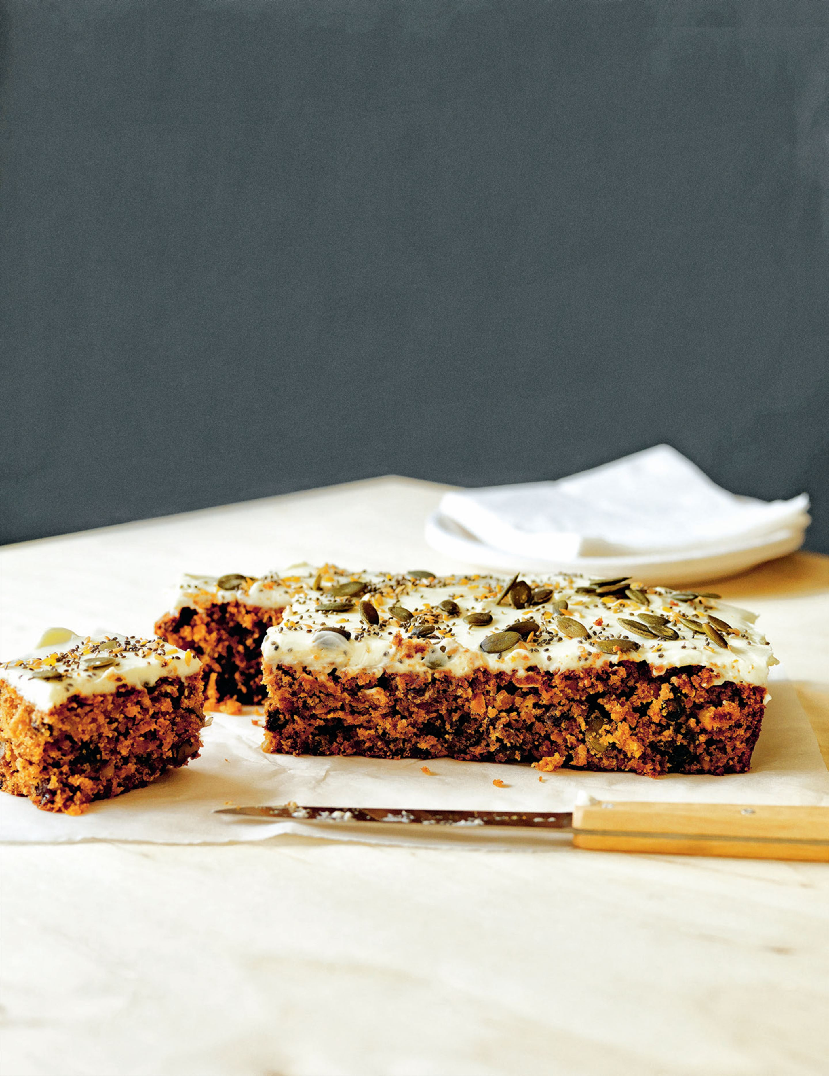 Super seeded carrot cake