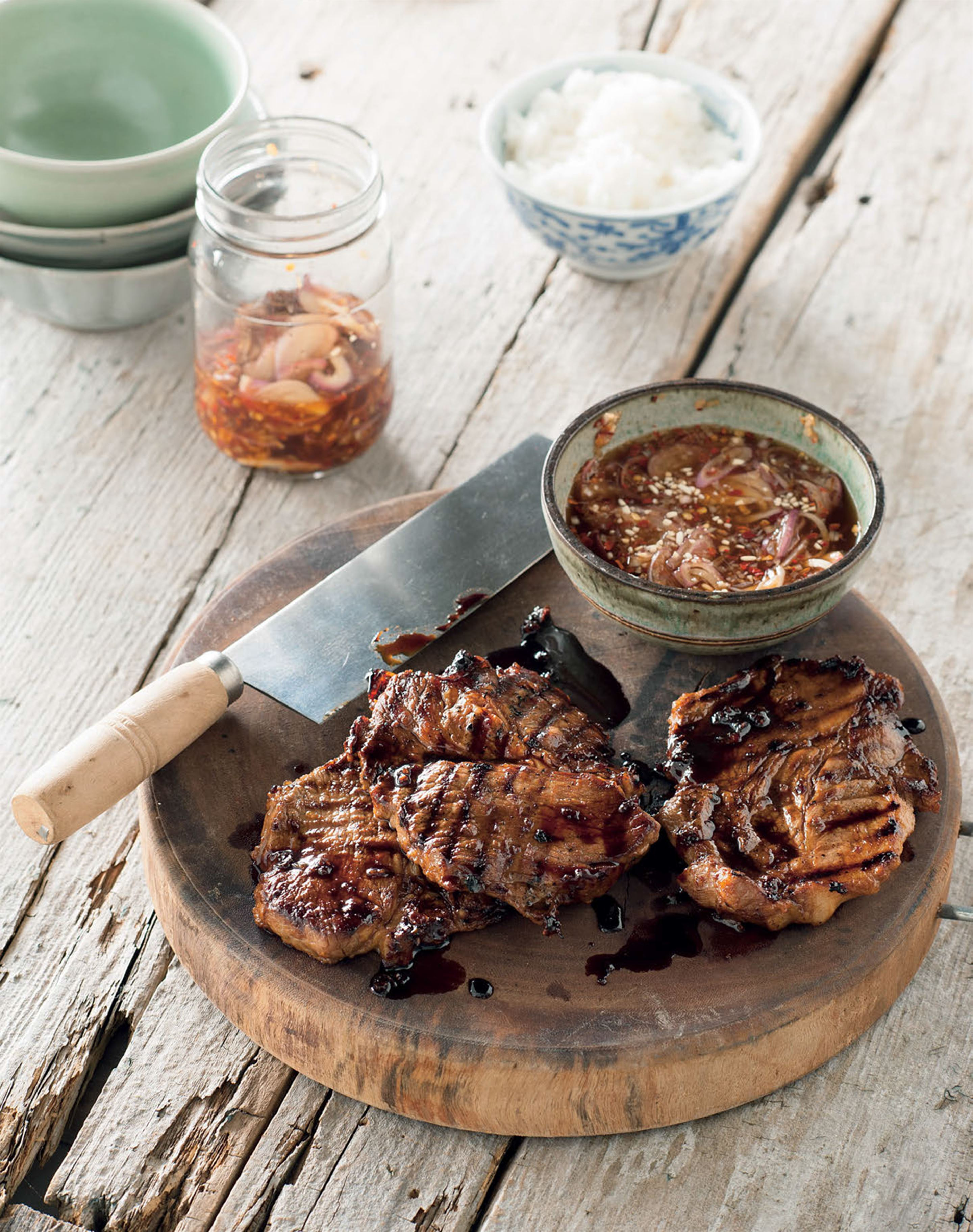 Thai barbecued pork neck