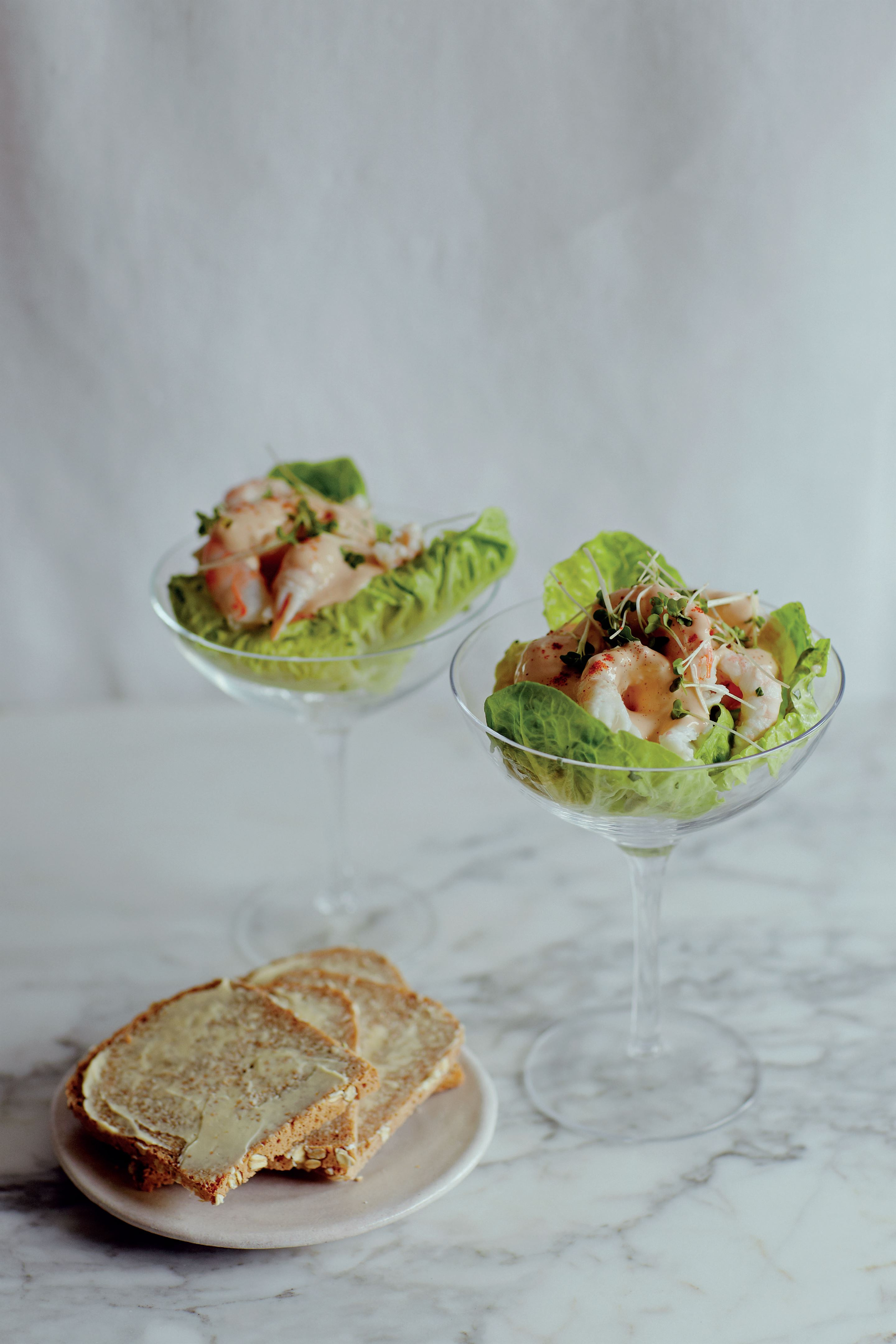 Classic prawn cocktail with langoustines