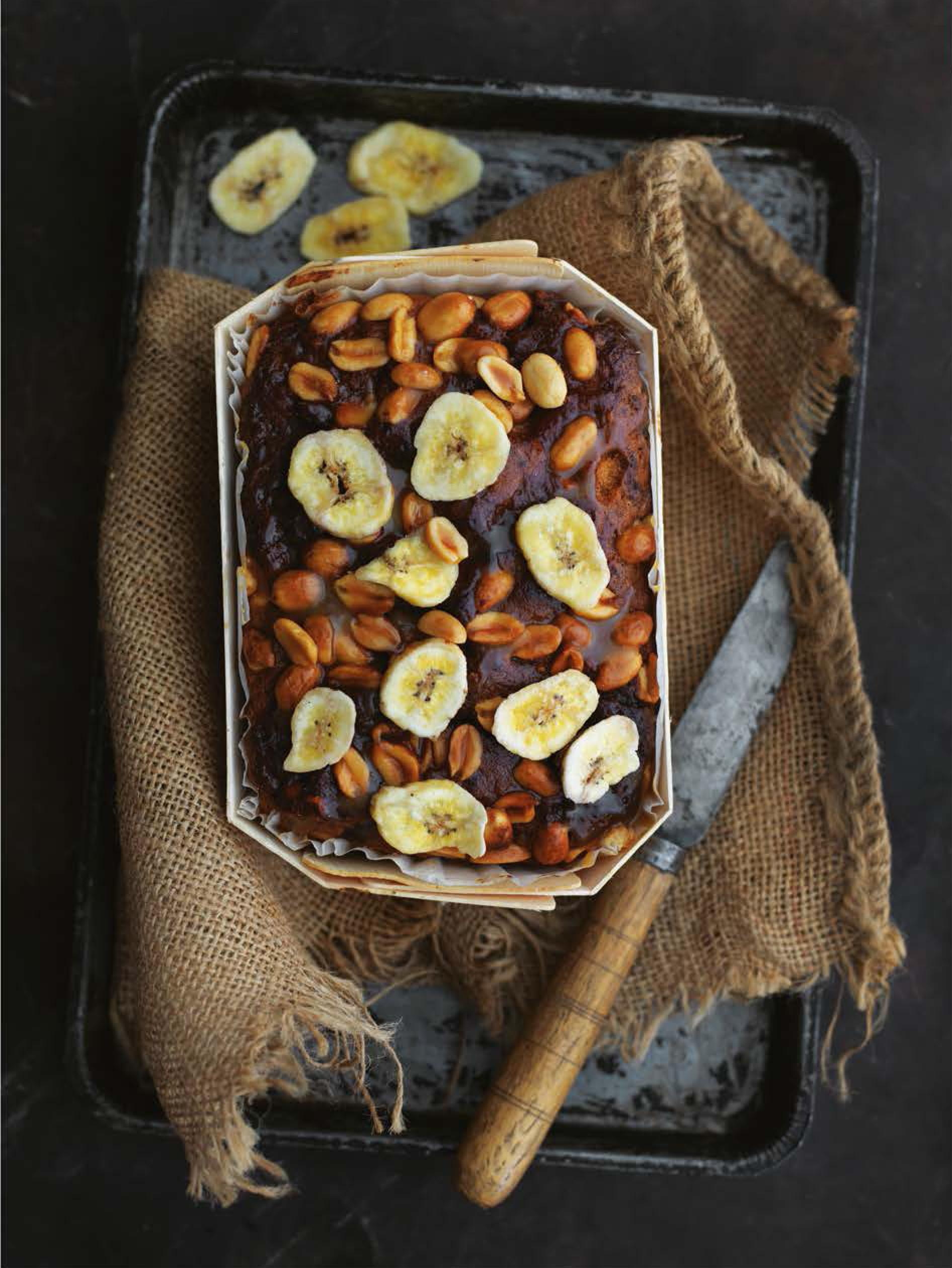 Accra banana and peanut cake
