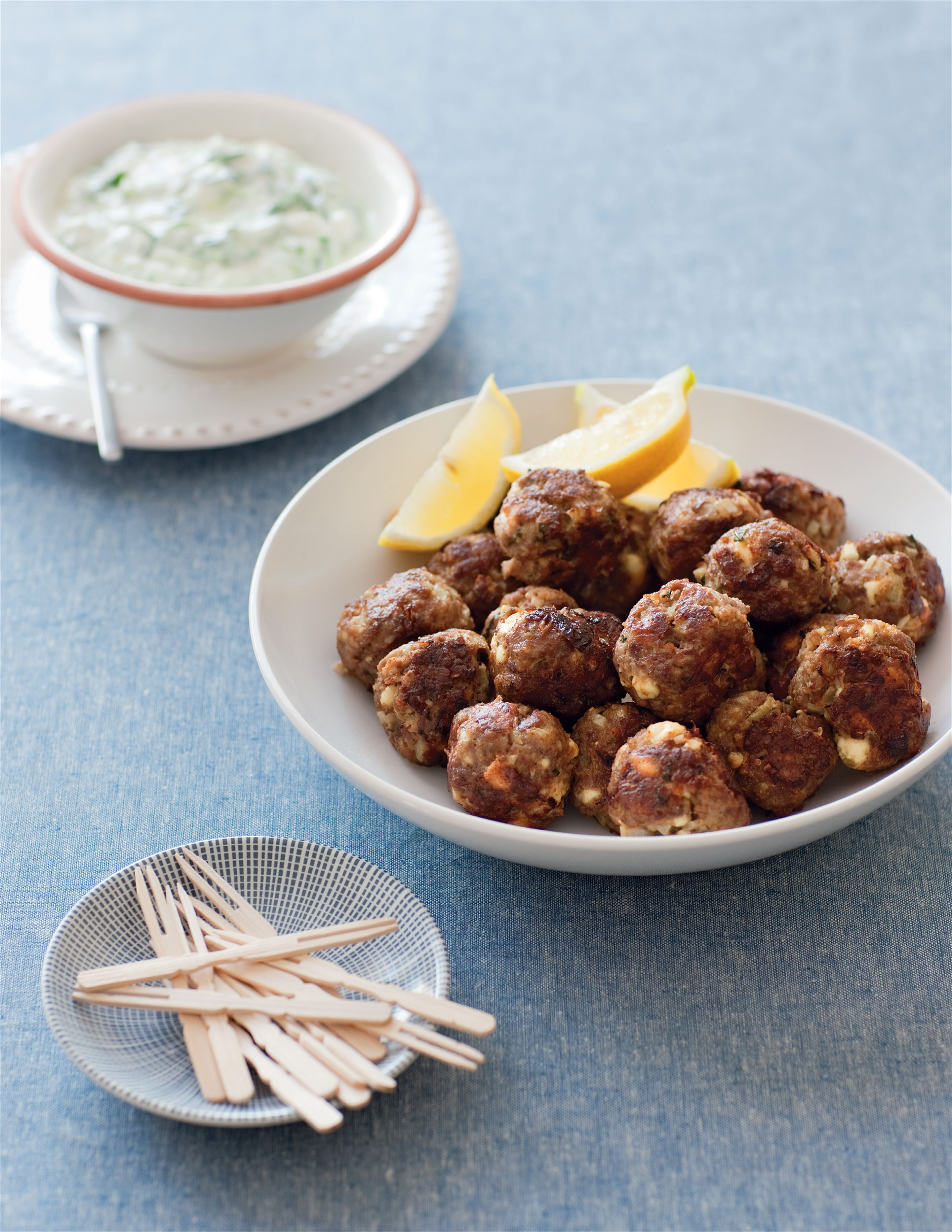 Greek lamb and feta meatballs