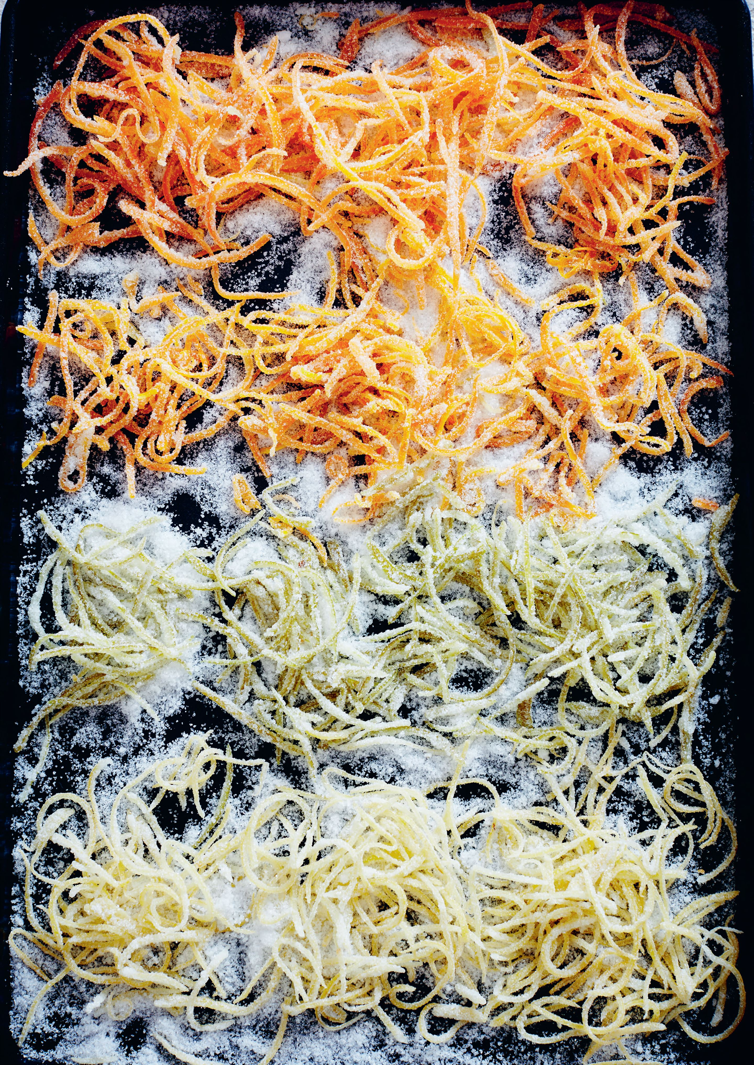 Candied citrus zest
