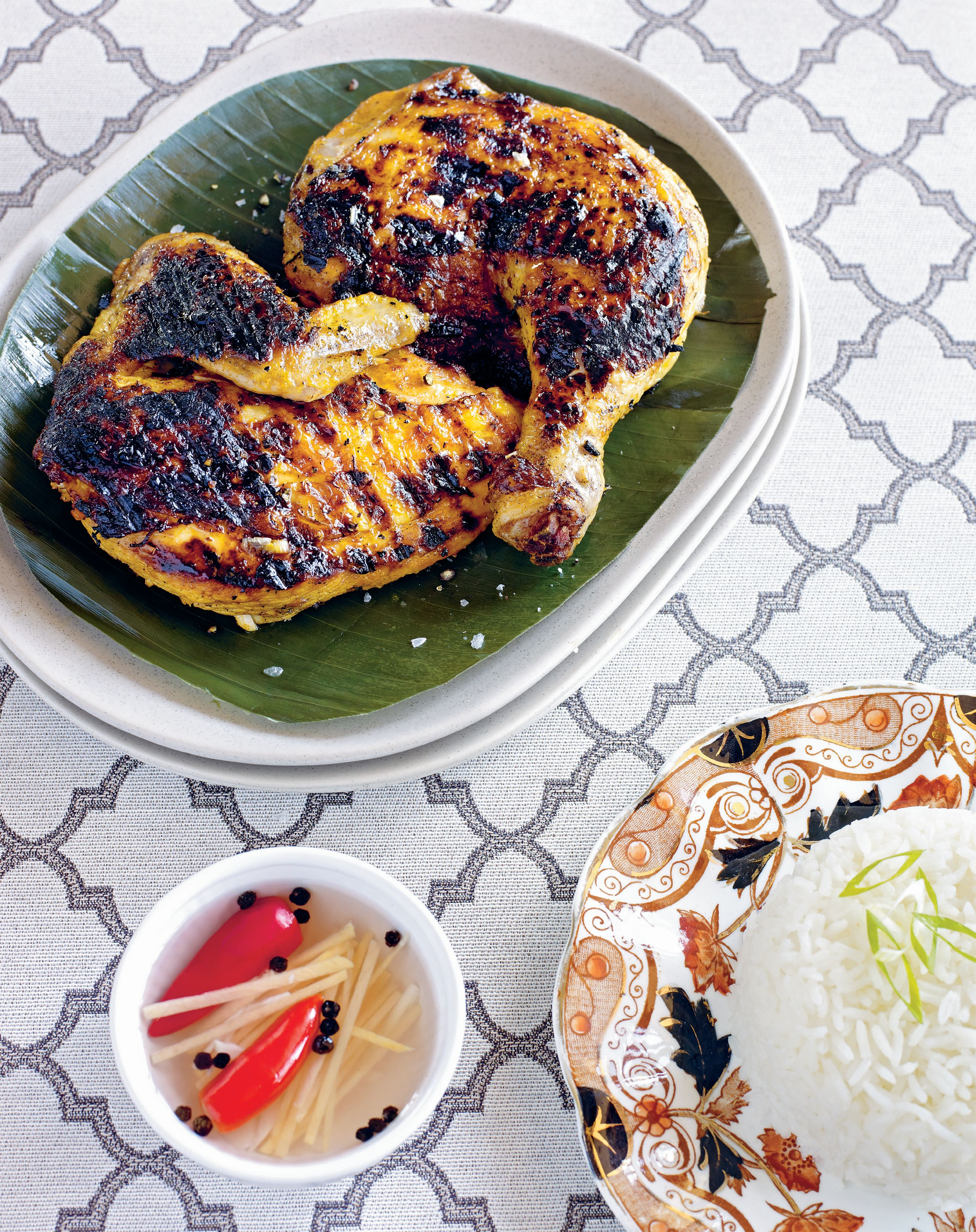 Chargrilled annatto and lemongrass chicken