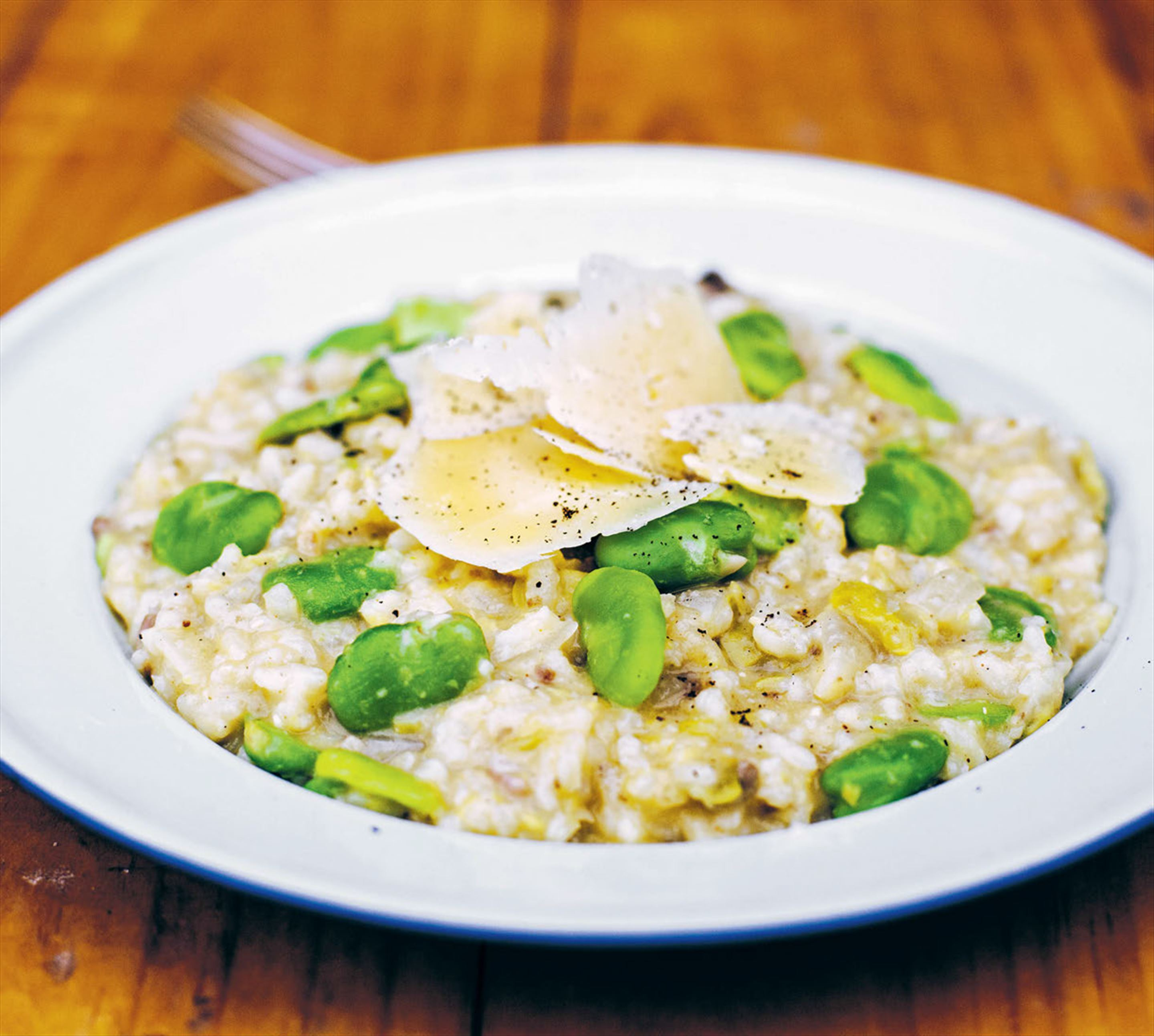 Broad bean risotto
