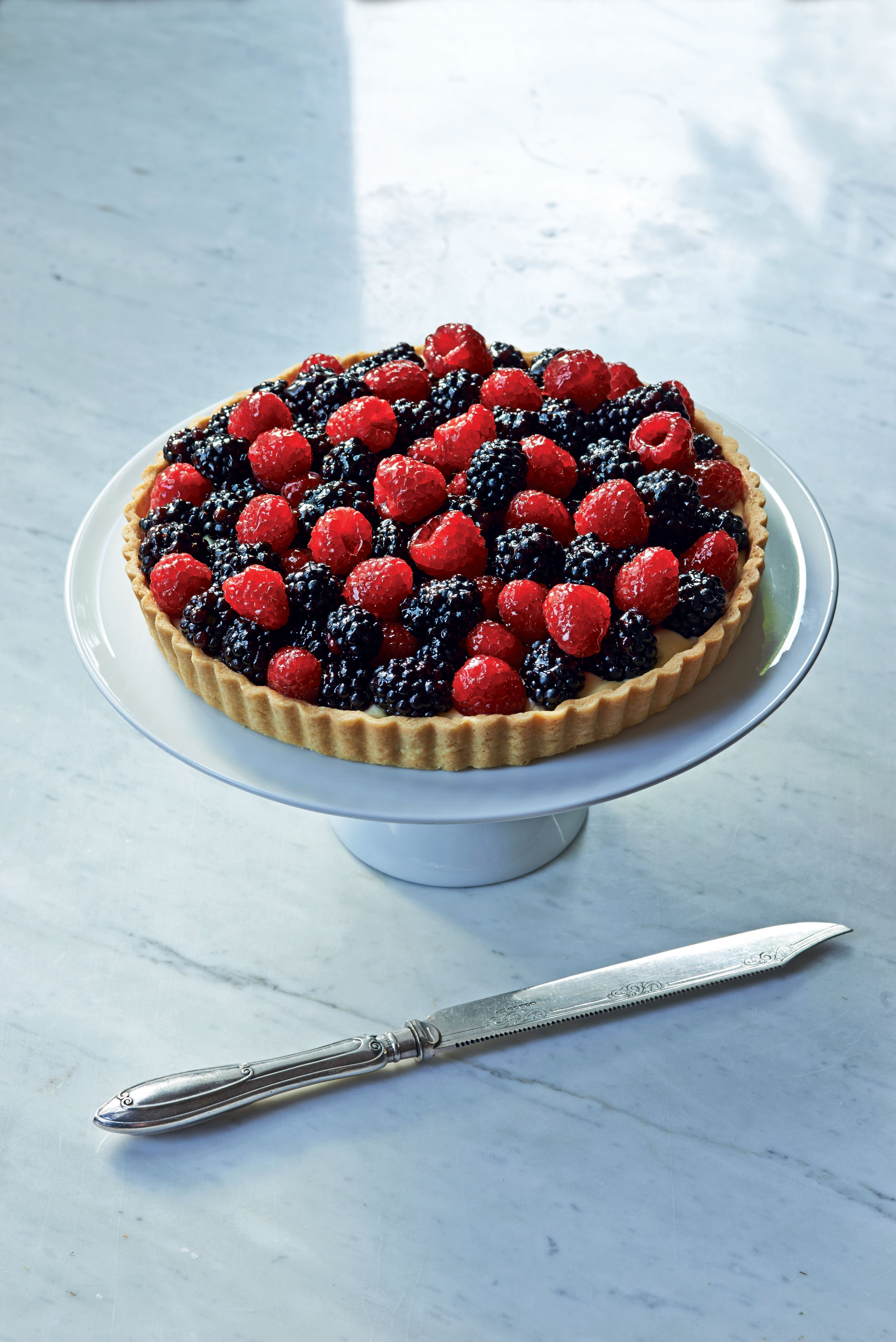 Berry and almond tart