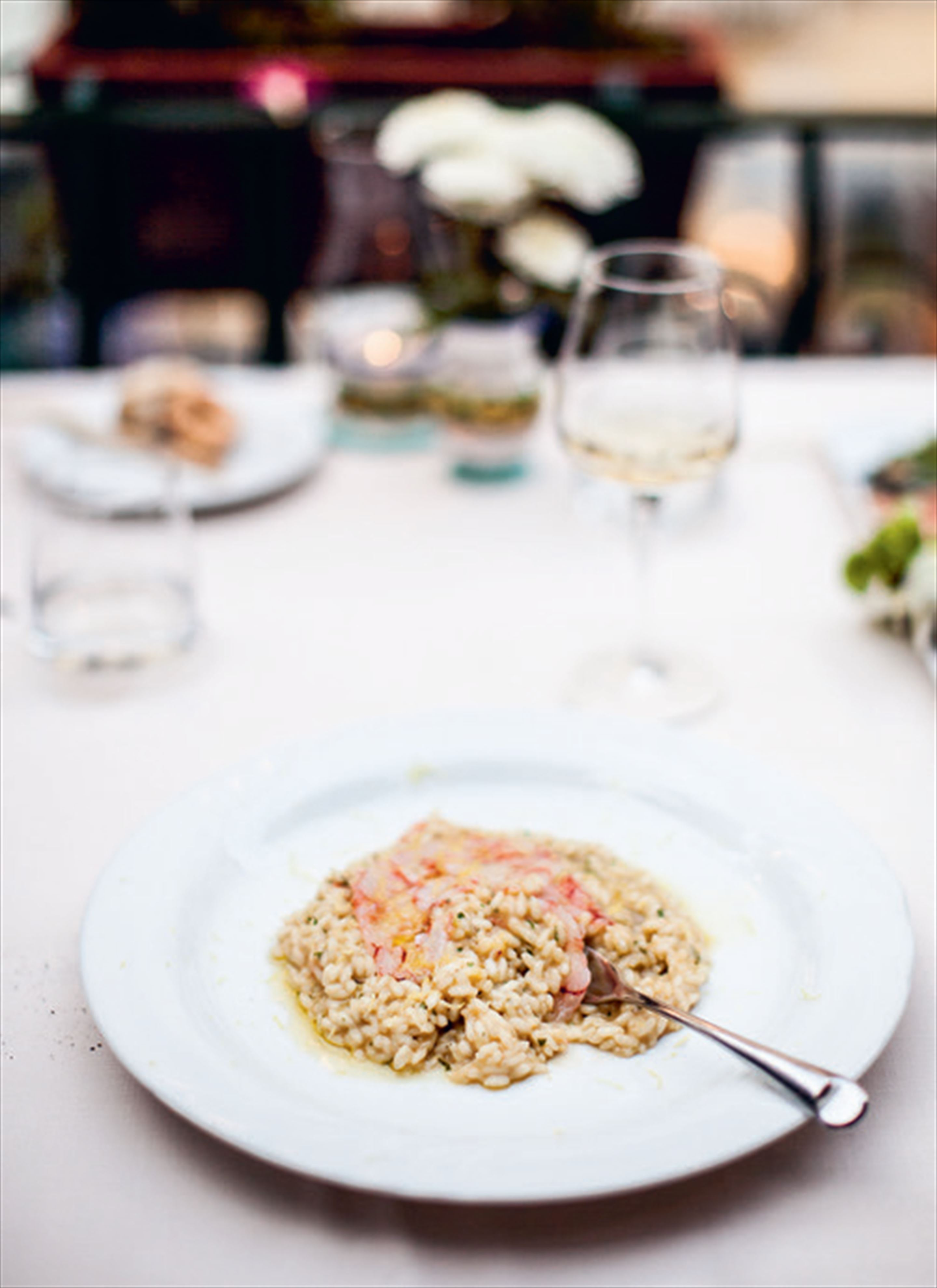 Lemon & prawn risotto