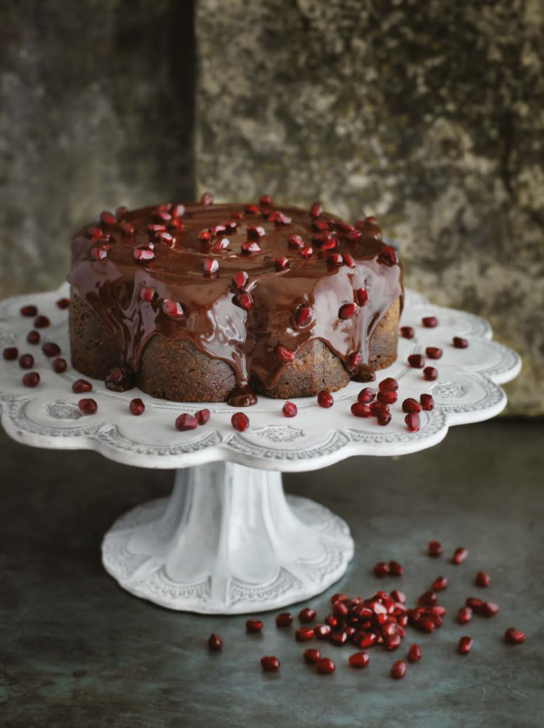 Chocolate pomegranate cake