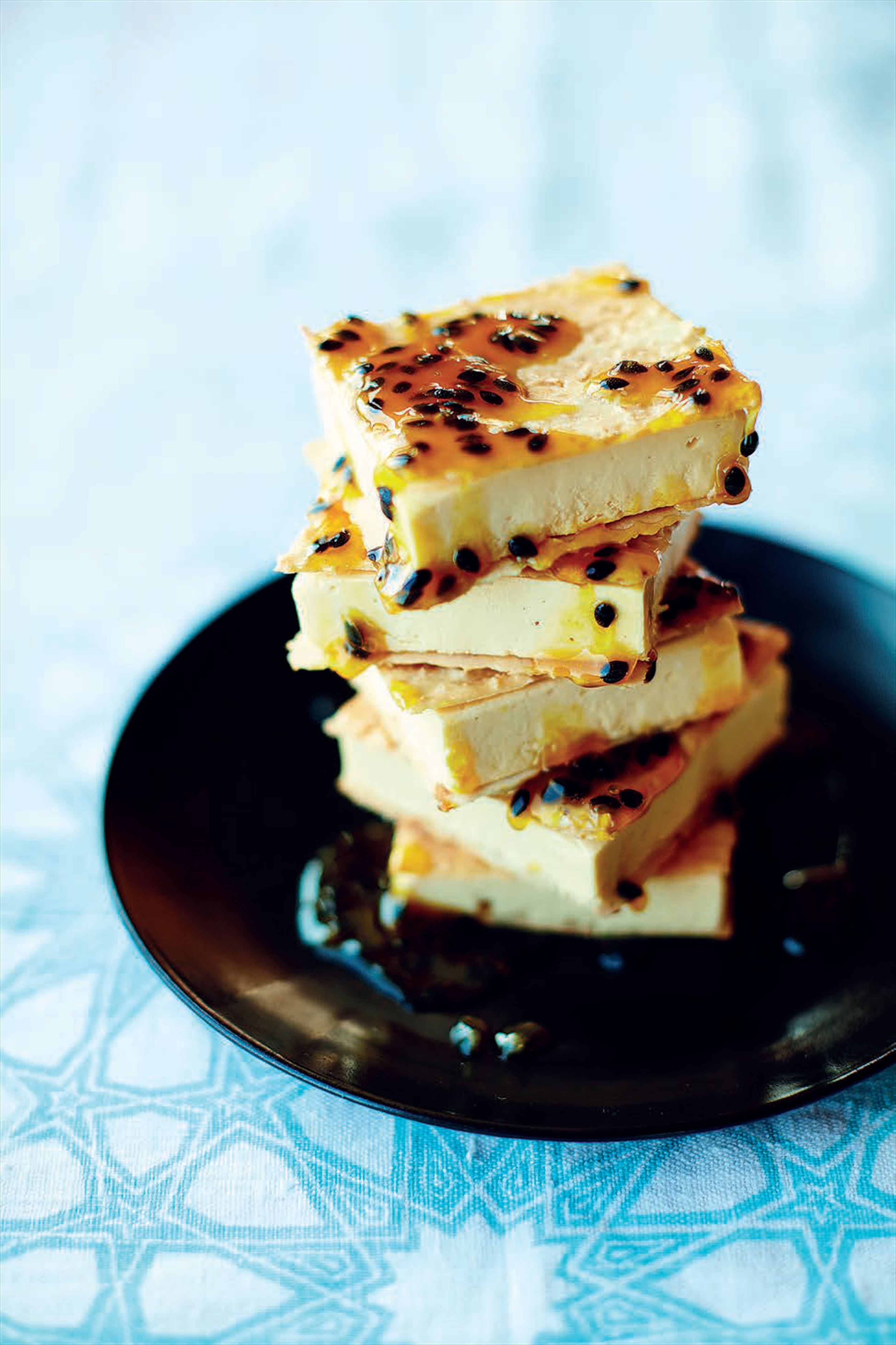 Passion fruit and toasted coconut ice-cream sandwich