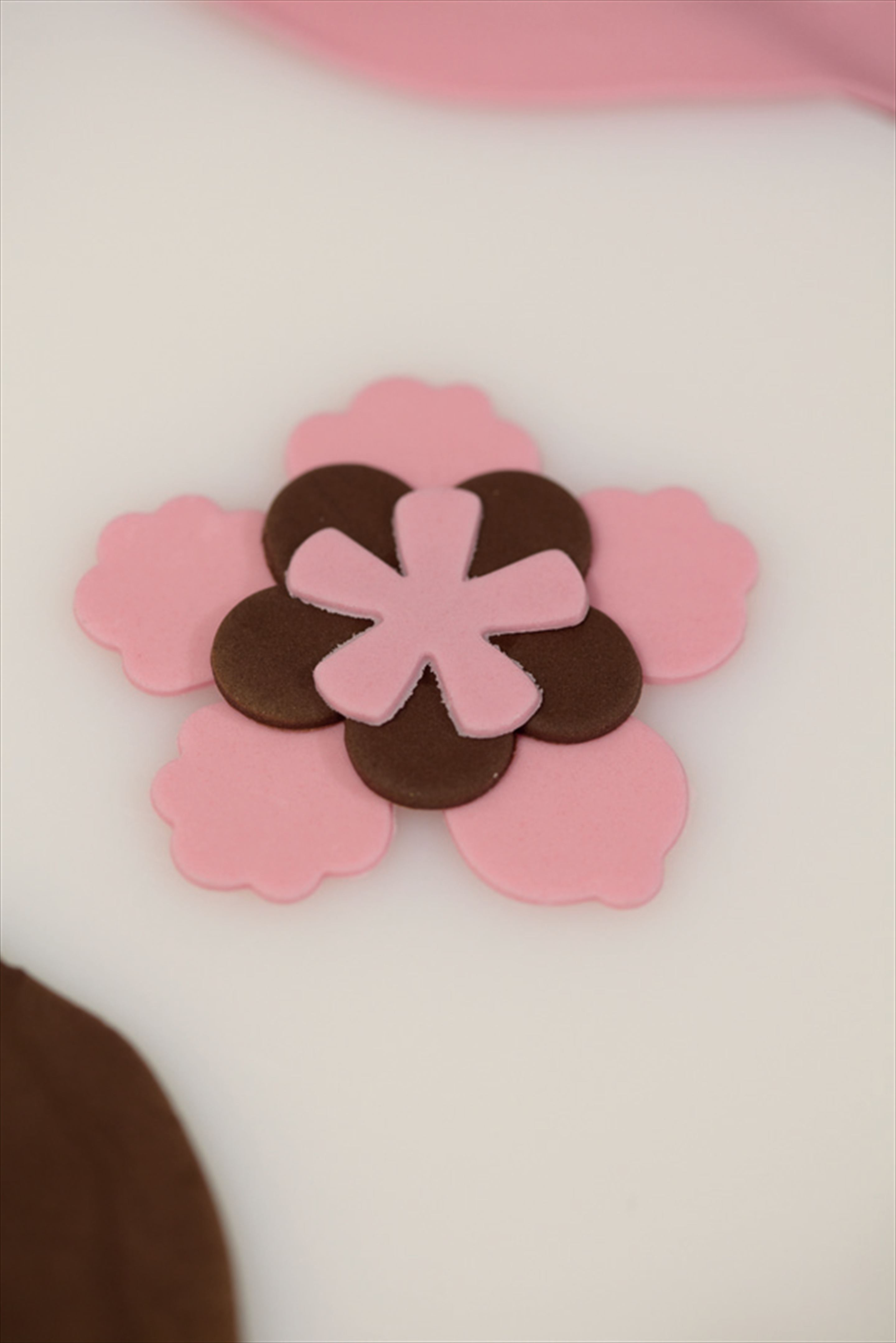 Applique blossoms
