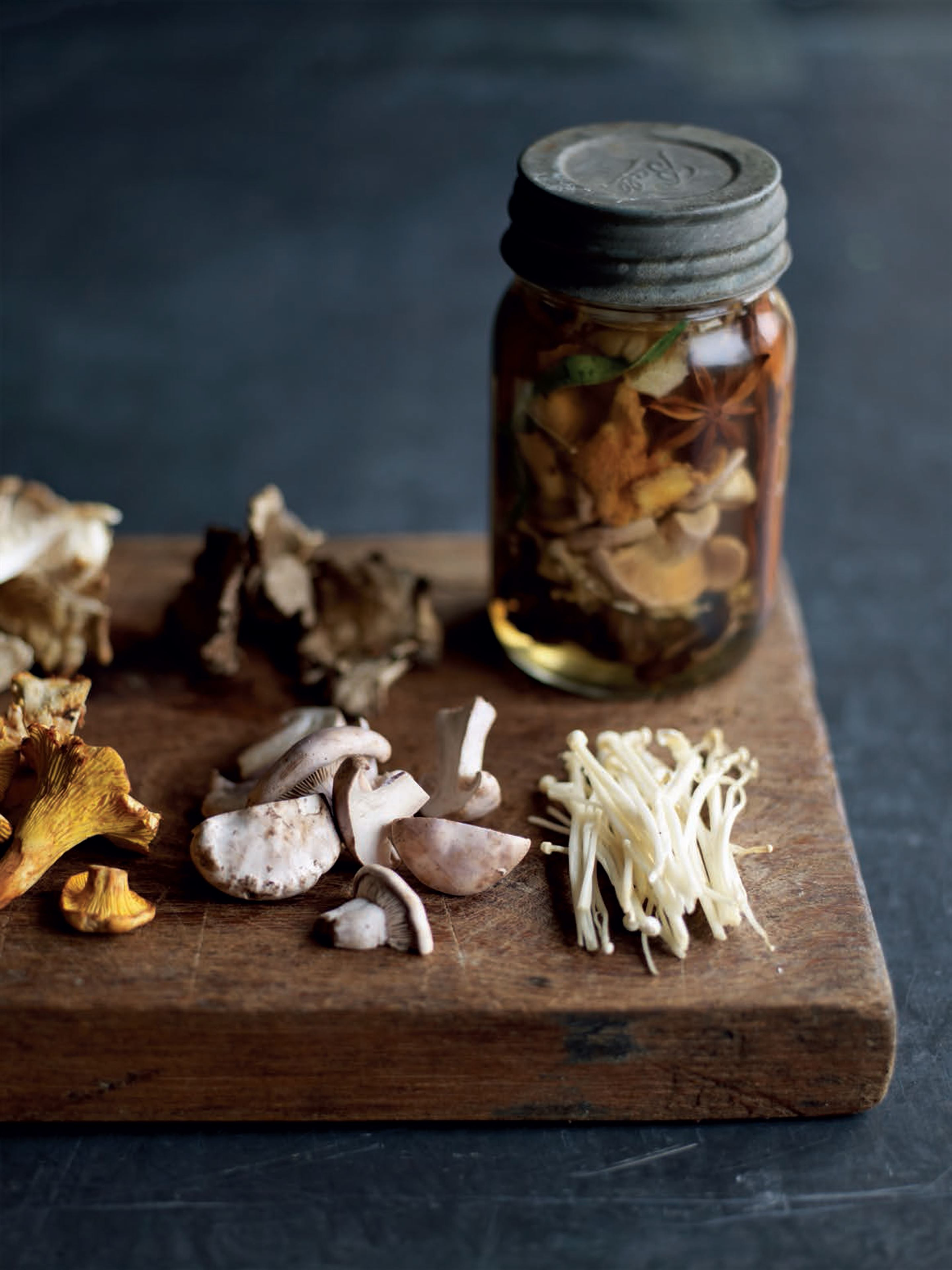 Pickled wild mushrooms