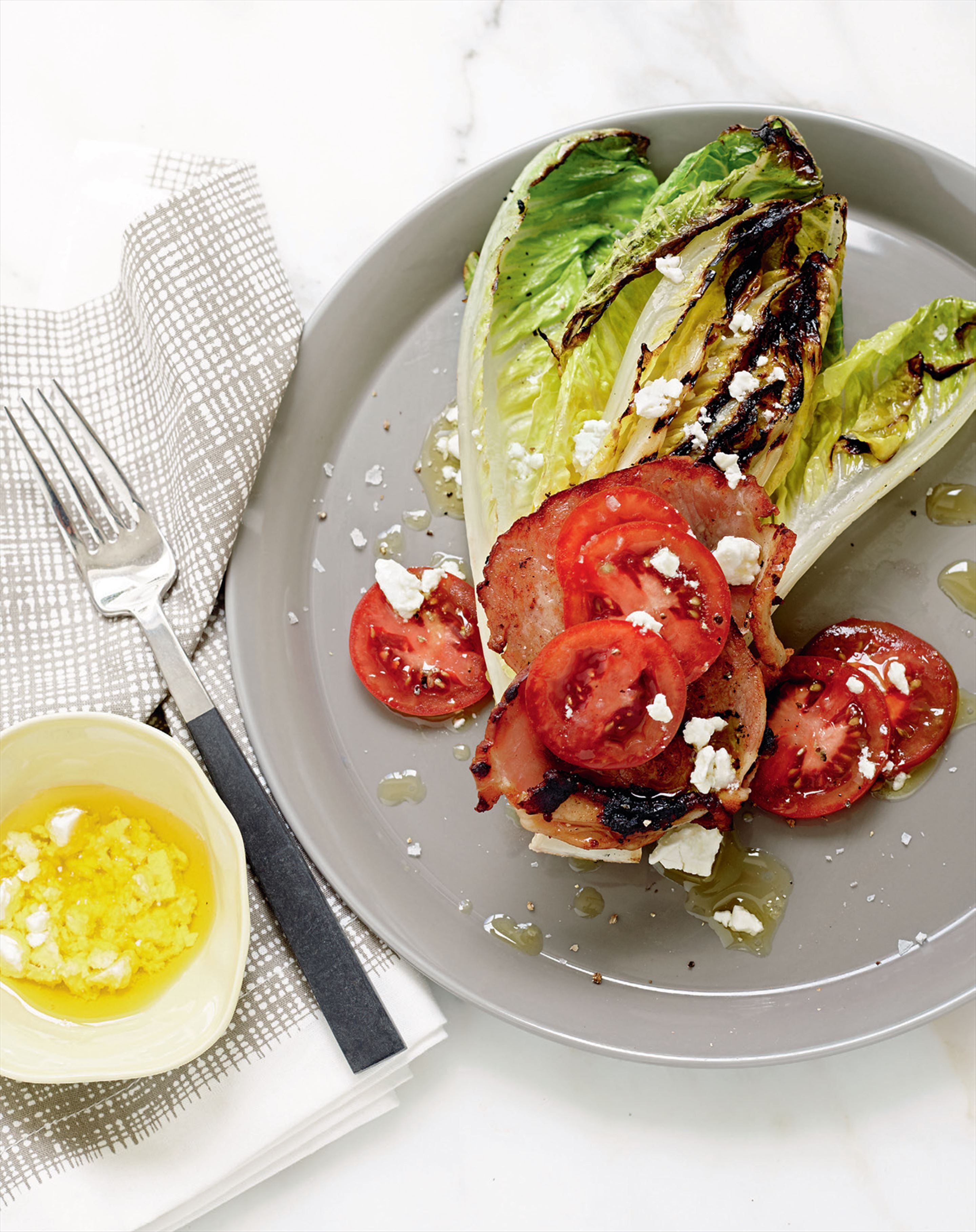 Grilled BLT salad