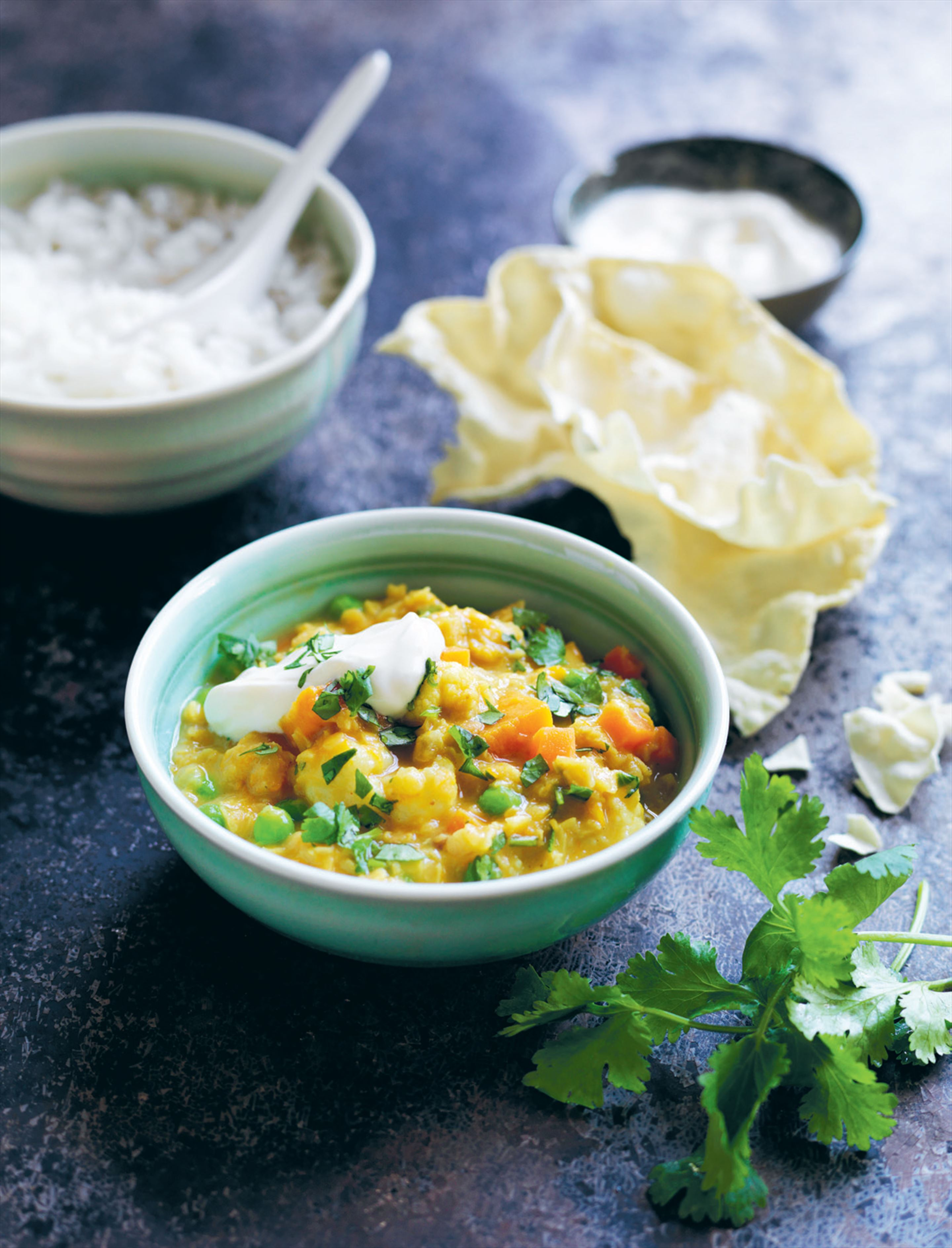 Pumpkin cauliflower dal
