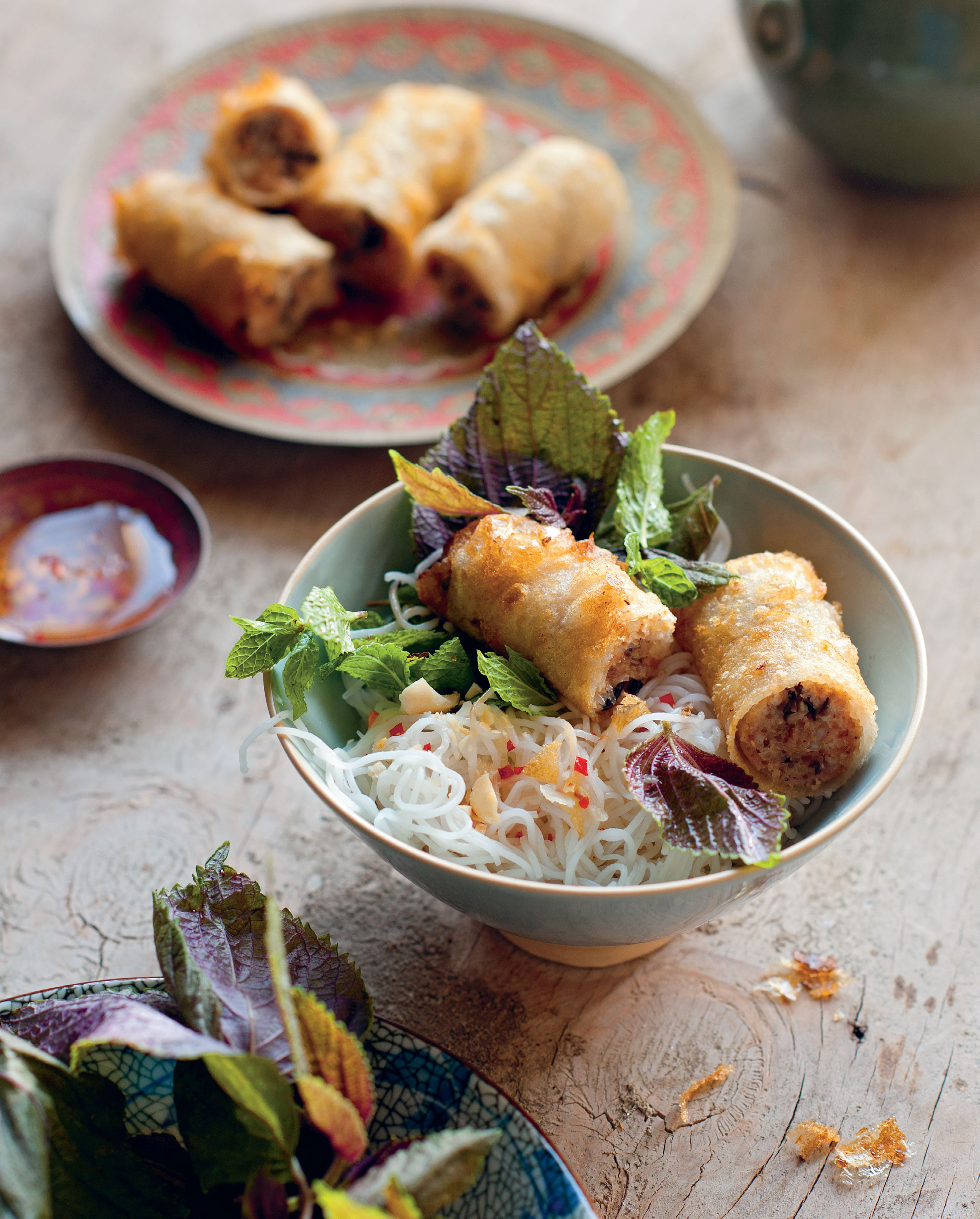 Hanoi crisp parcels with vermicelli salad
