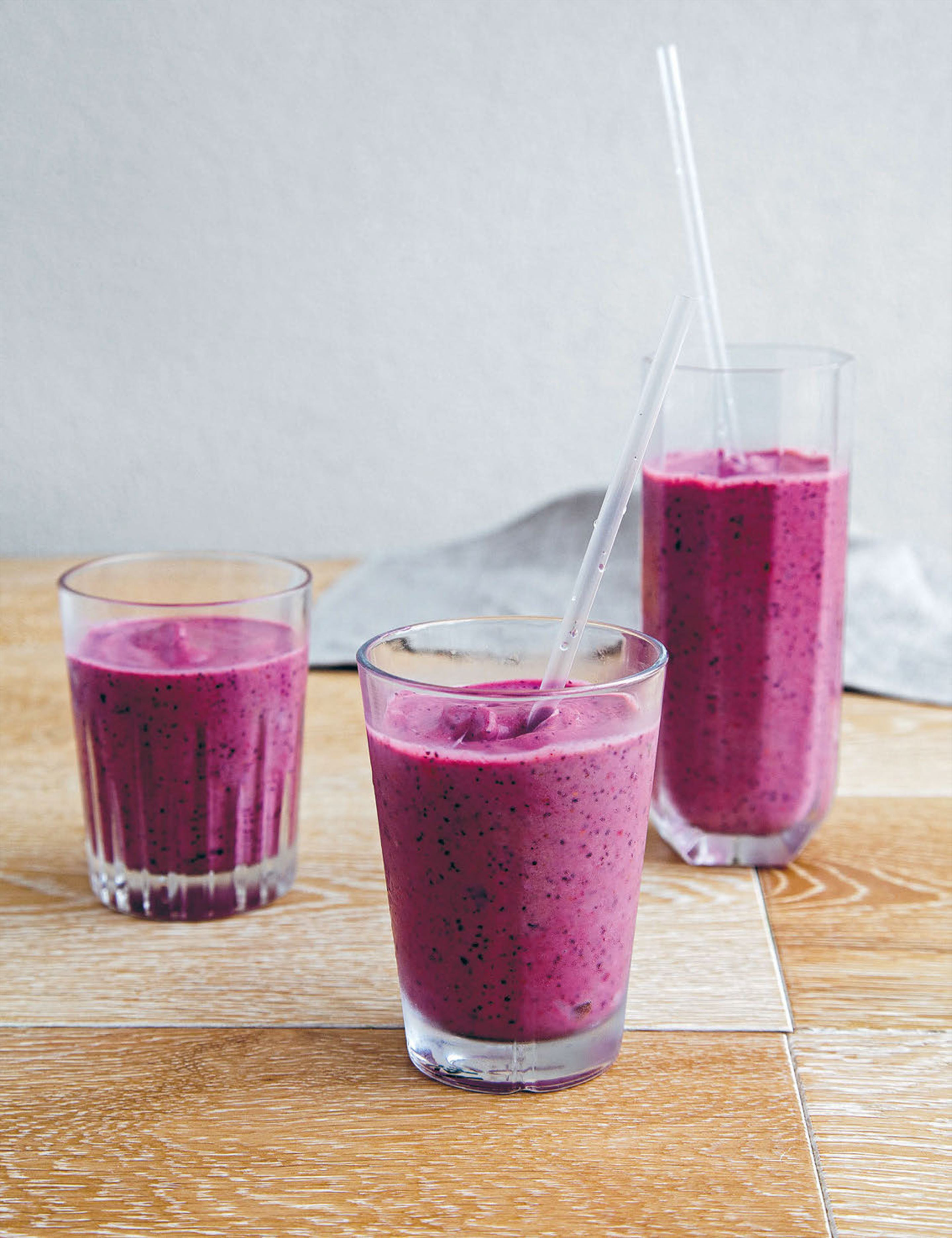 Metabolism-boosting berry smoothie