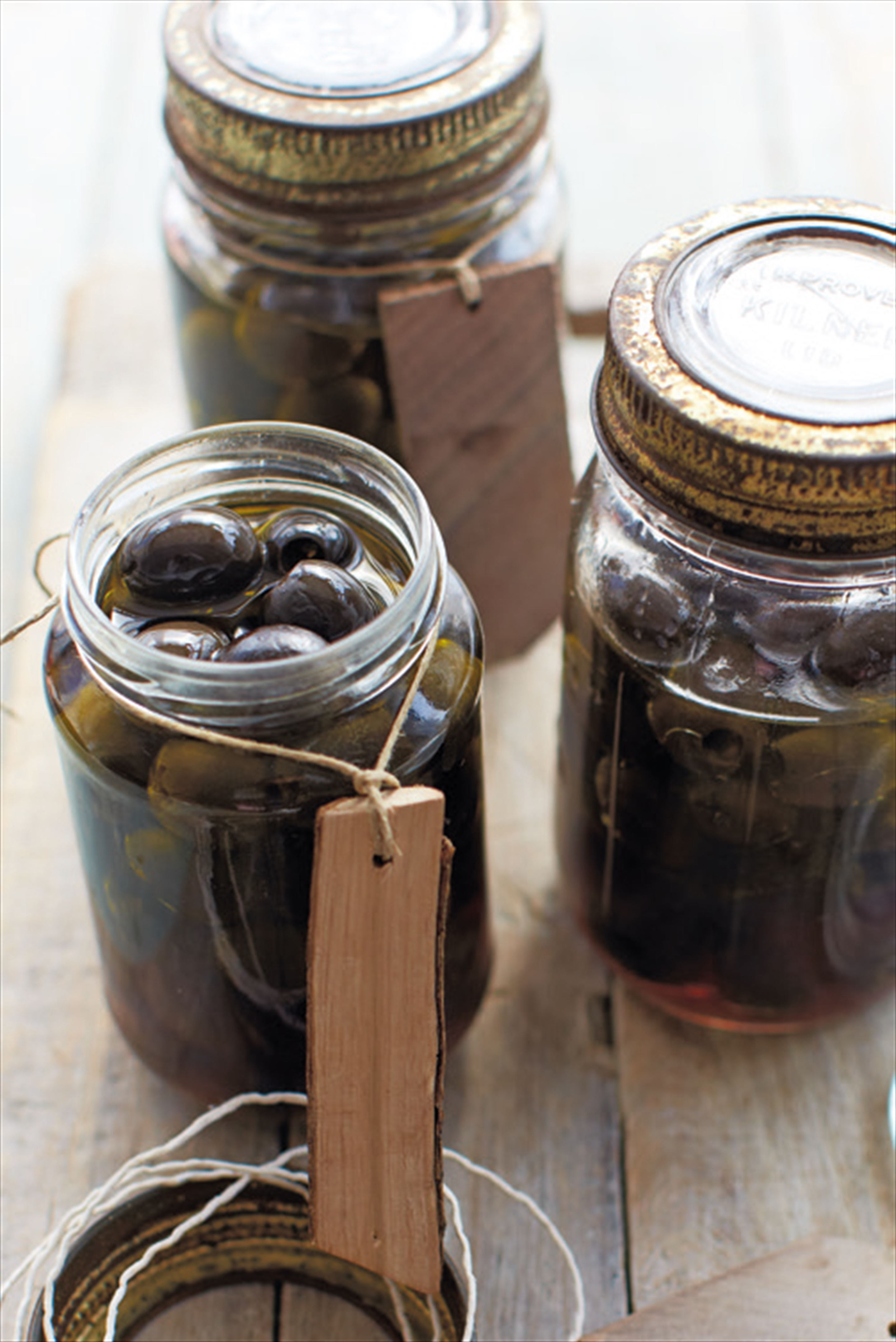 Raspberry vinegar olives