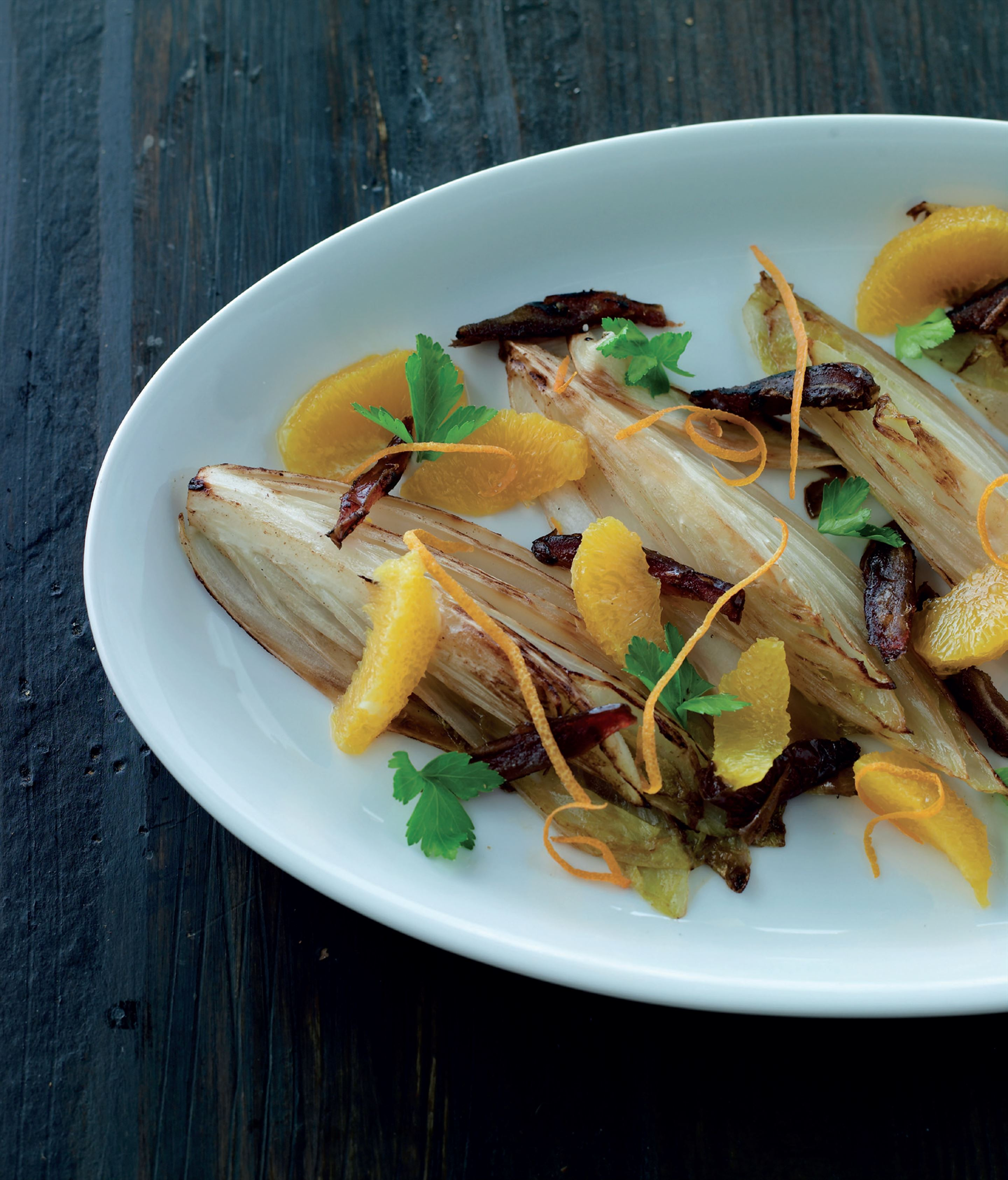 Warm chicory salad