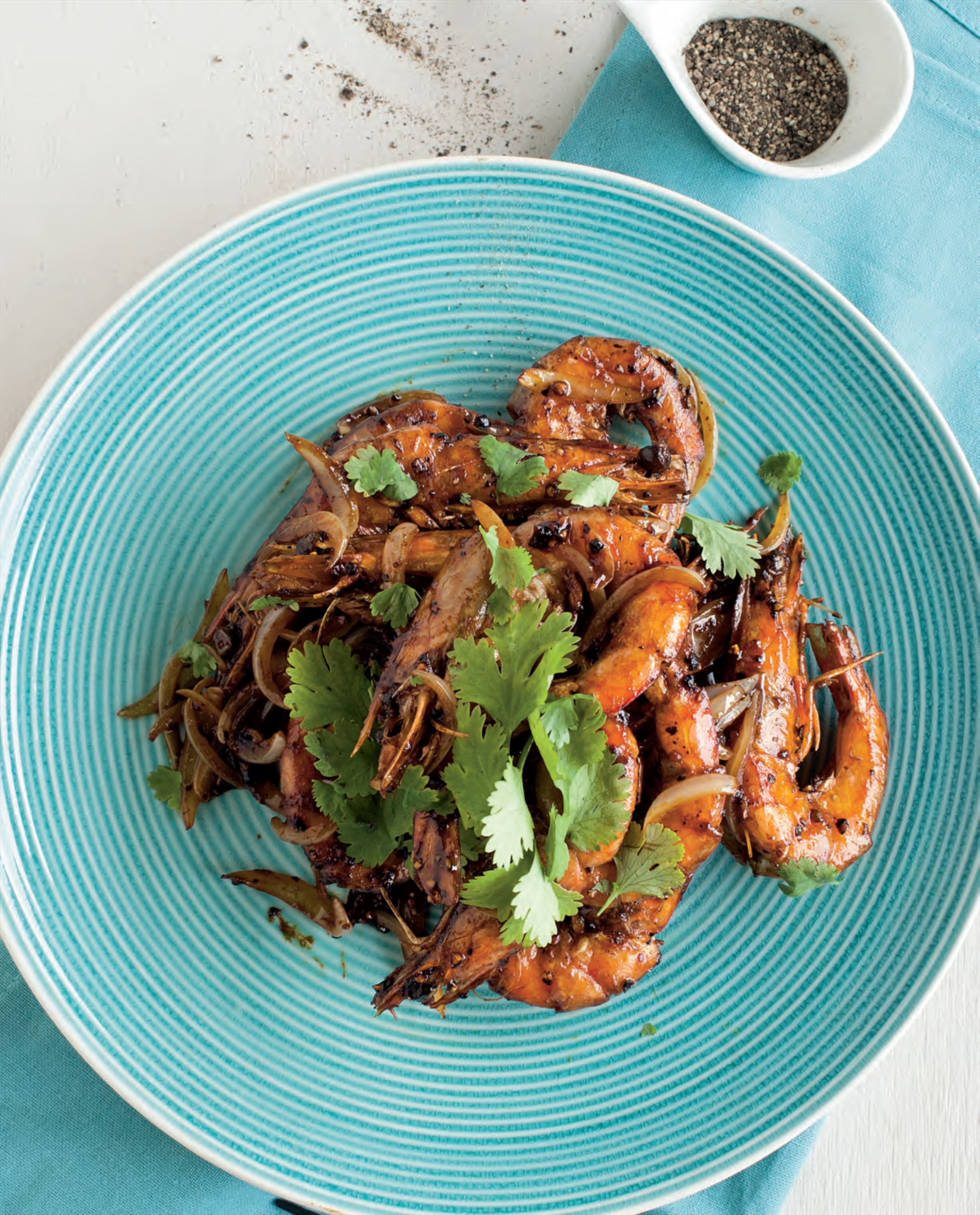 Pepper assam prawns