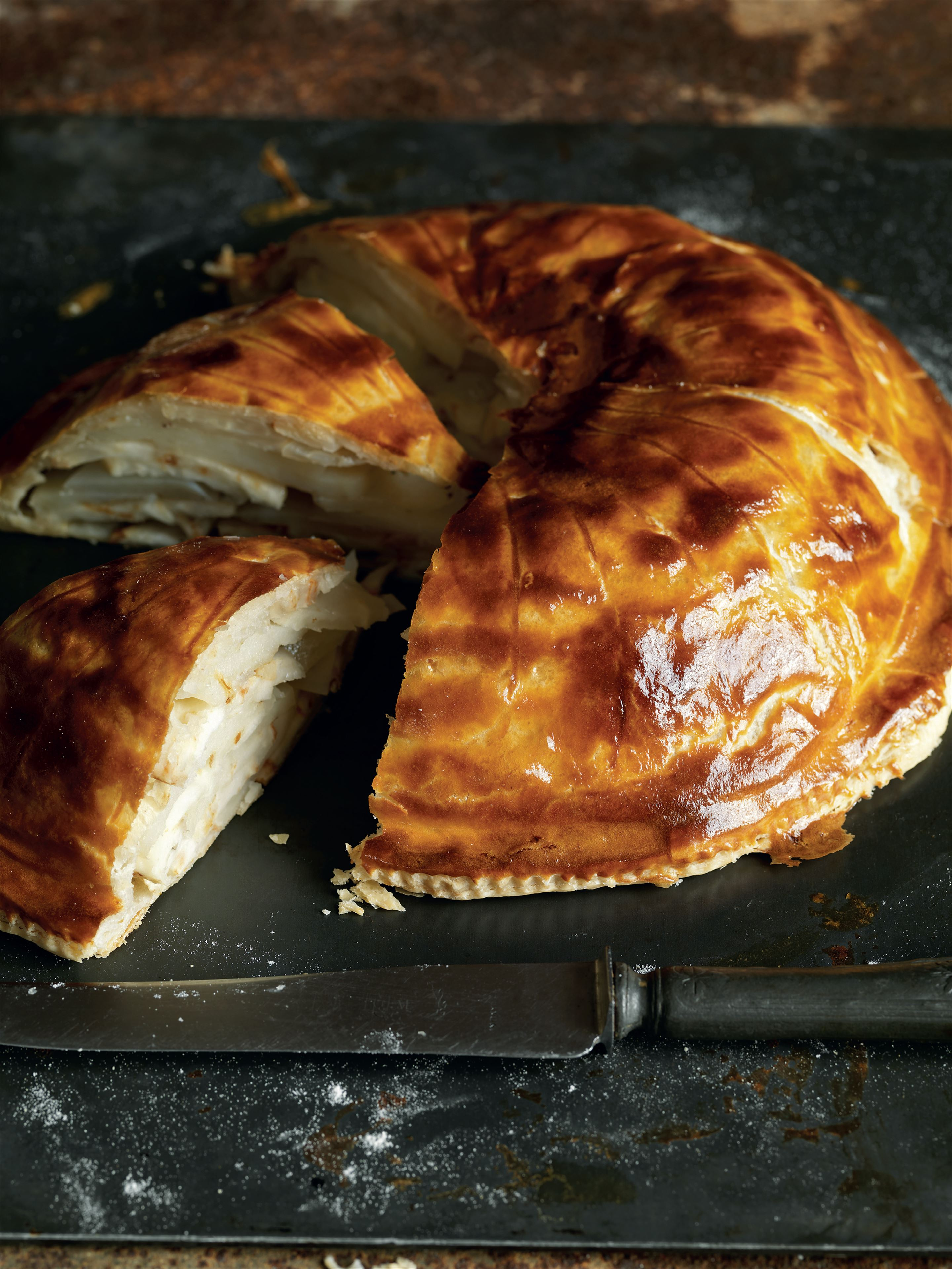 Celeriac and Lancashire cheese pithivier