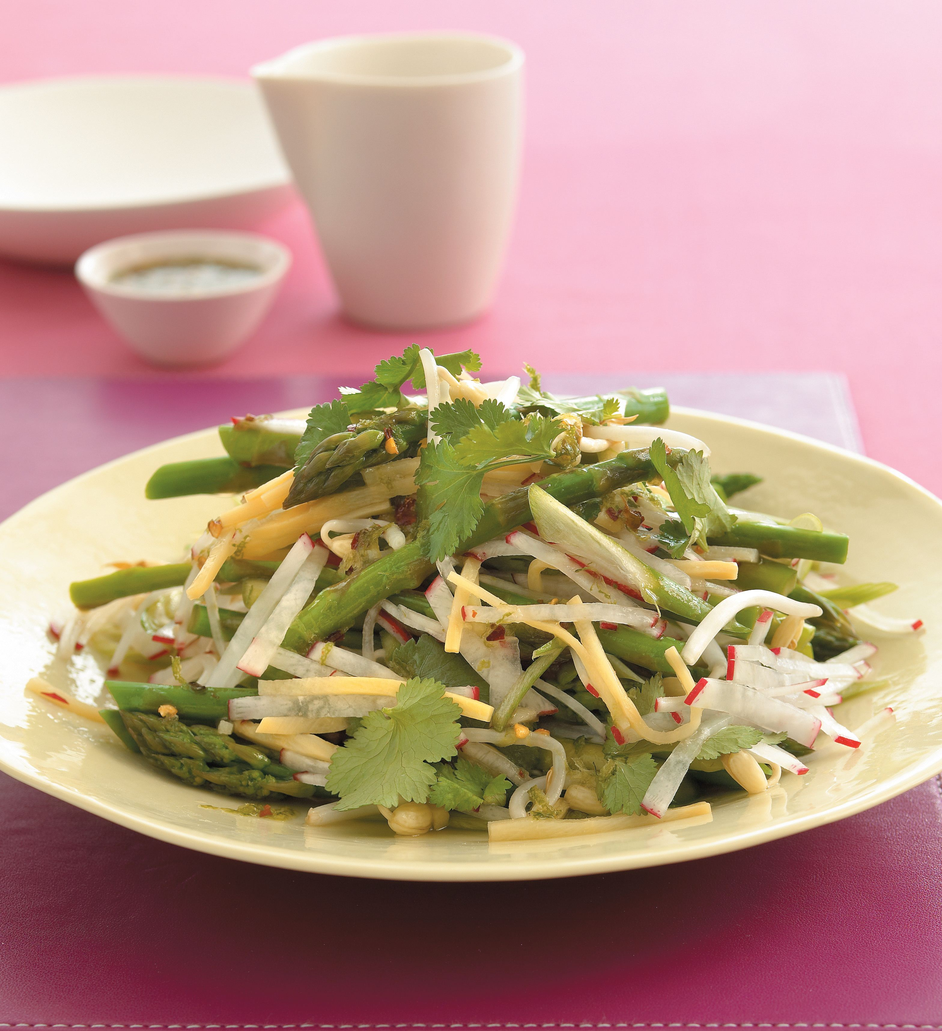 Asparagus and bamboo shoot salad