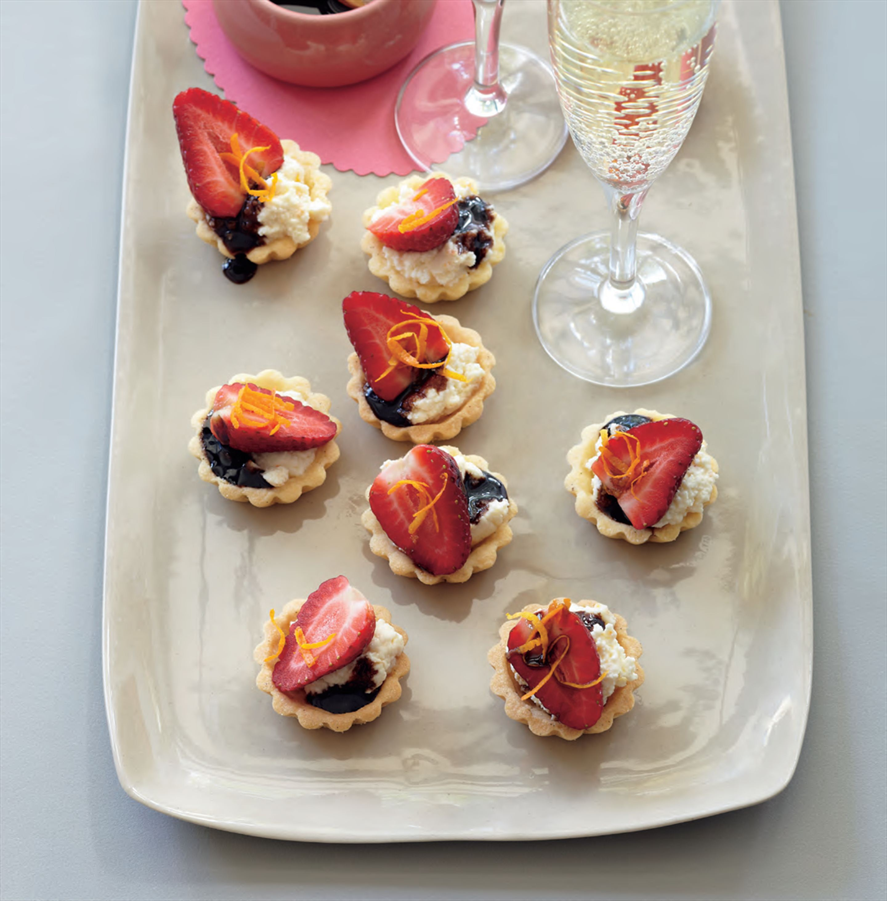 Strawberry tartlets with sticky balsamic glaze