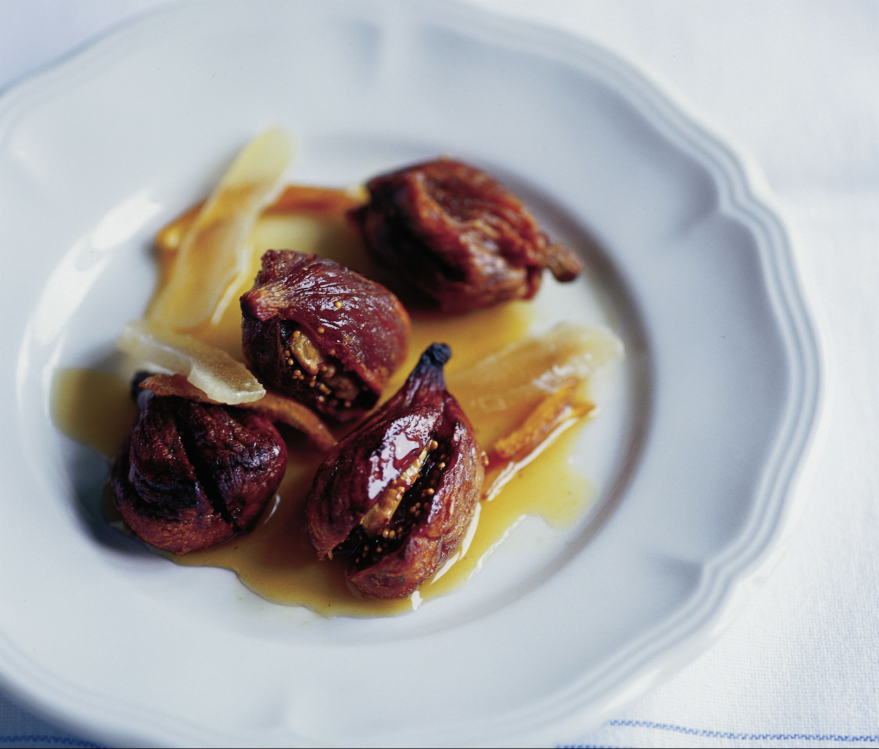 Baked honey figs