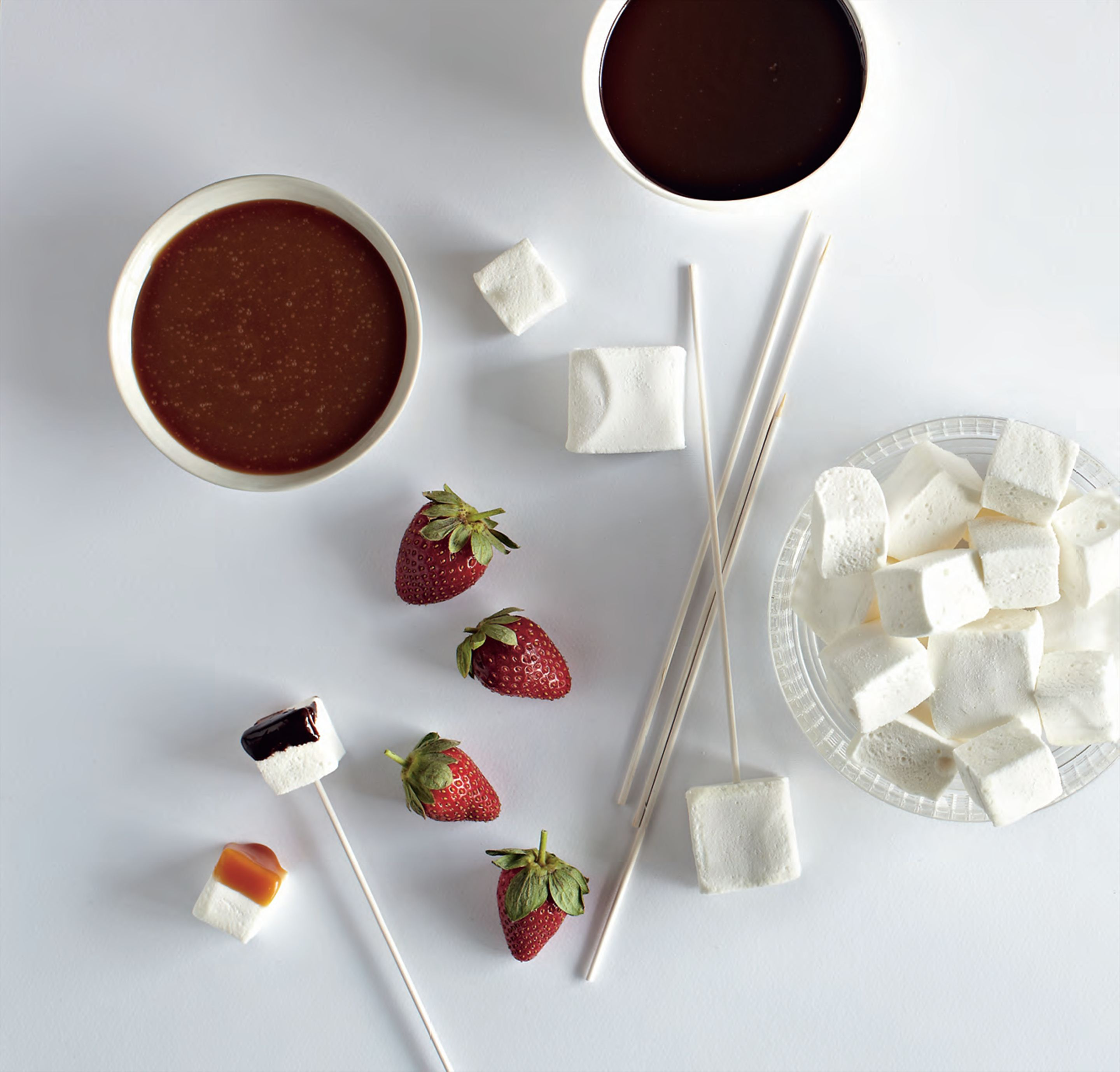 Chocolate & salted caramel fondue