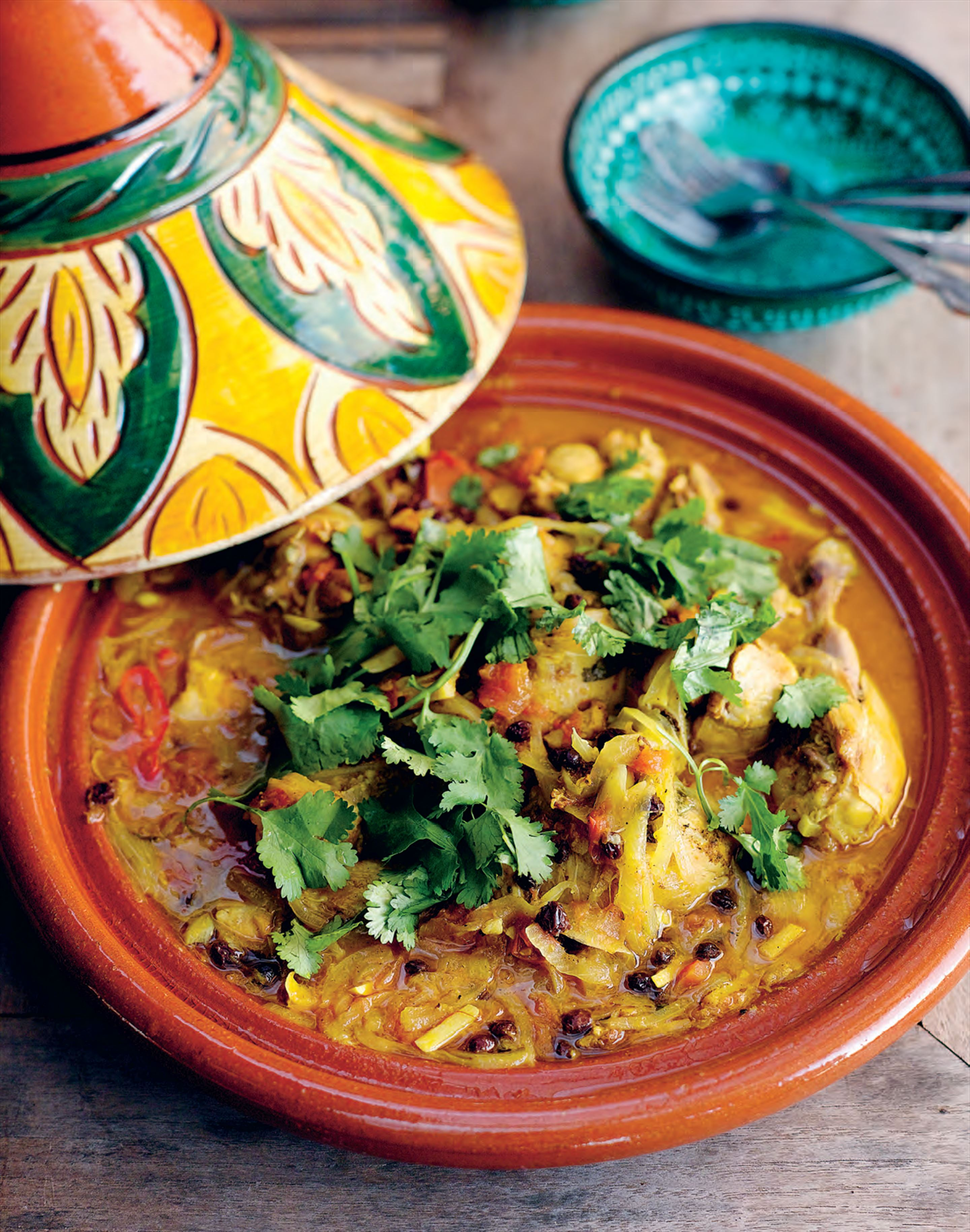 Chicken tagine with ginger and lemon