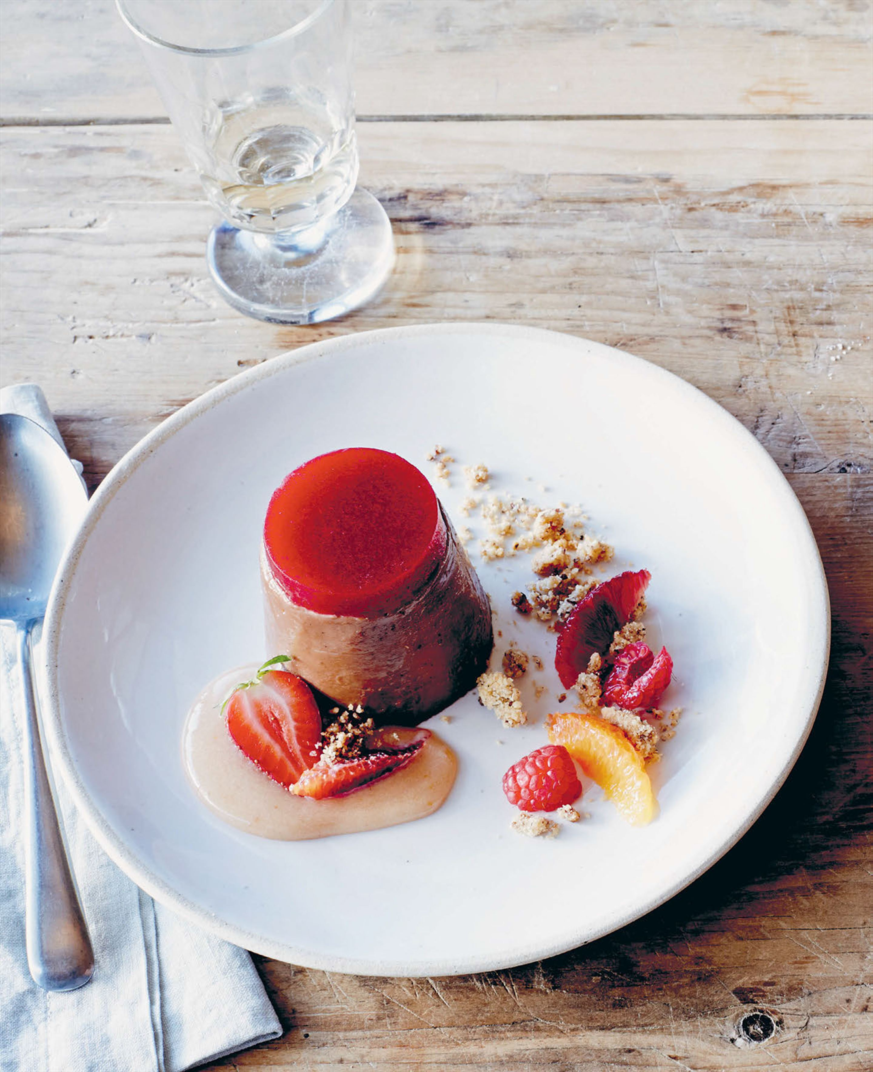 Chocolate and blood orange panna cotta