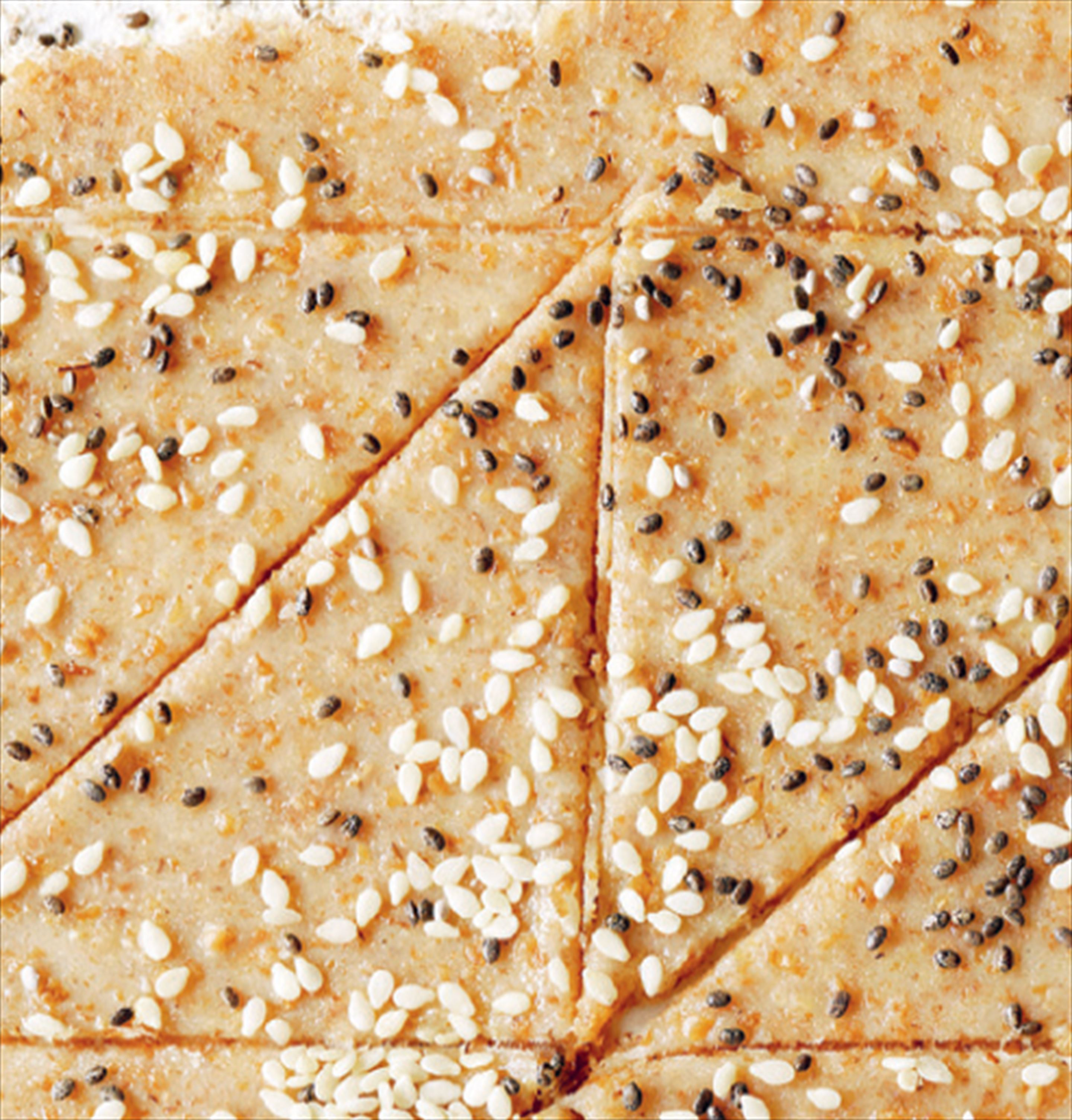 Buckwheat, chia & white sesame crackers