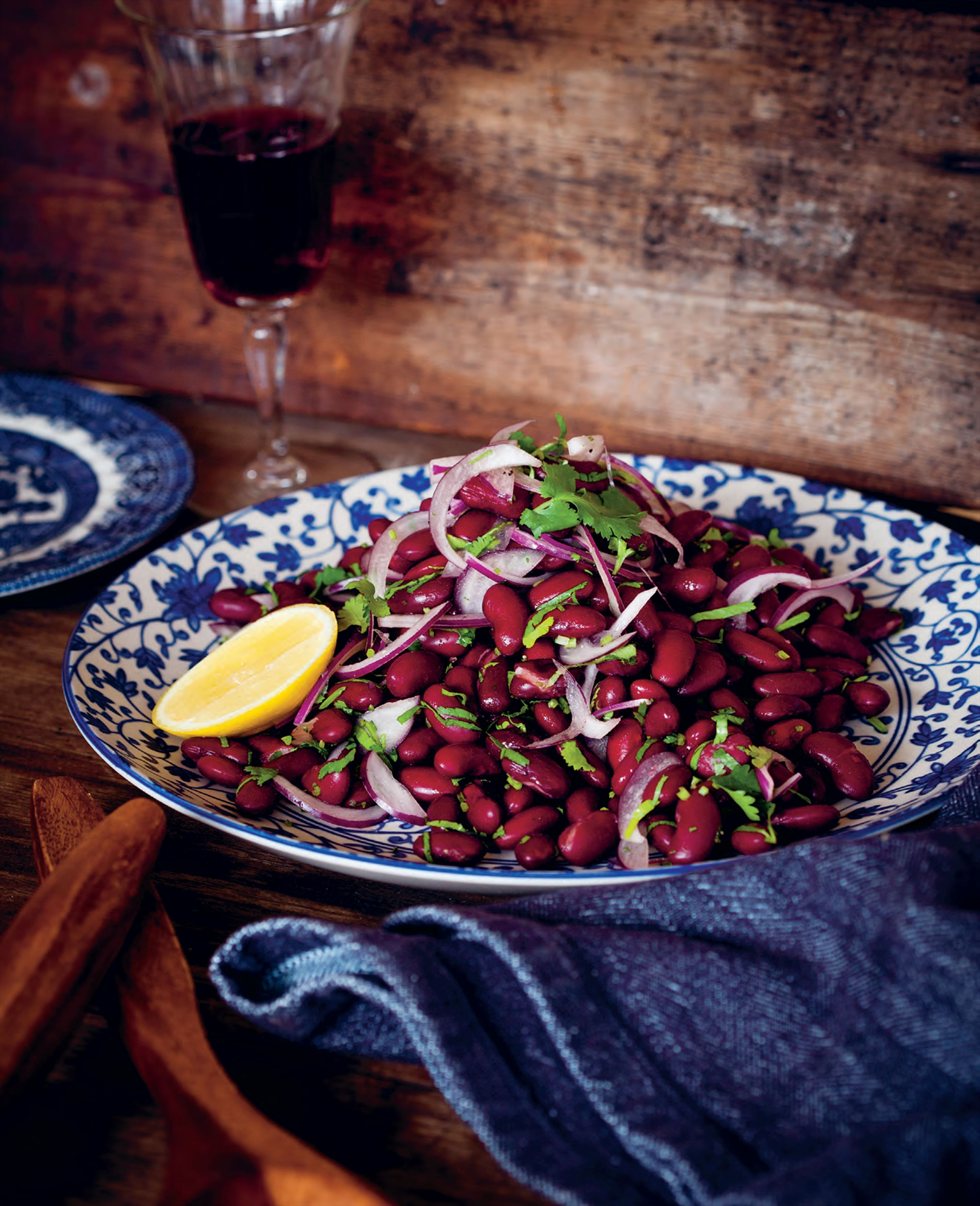 Spiced red bean salad
