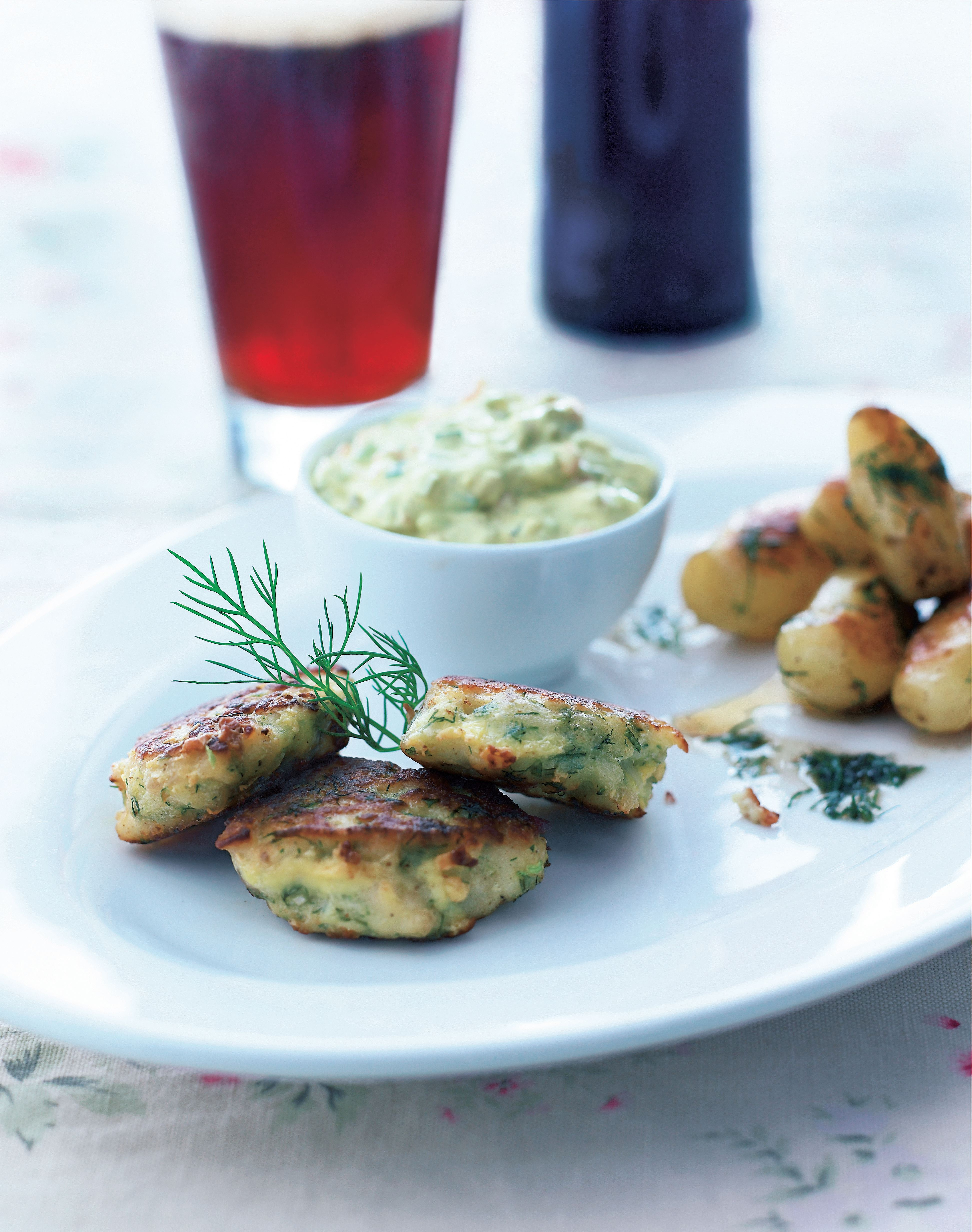 Fishcakes with herb remoulade and dill potatoes