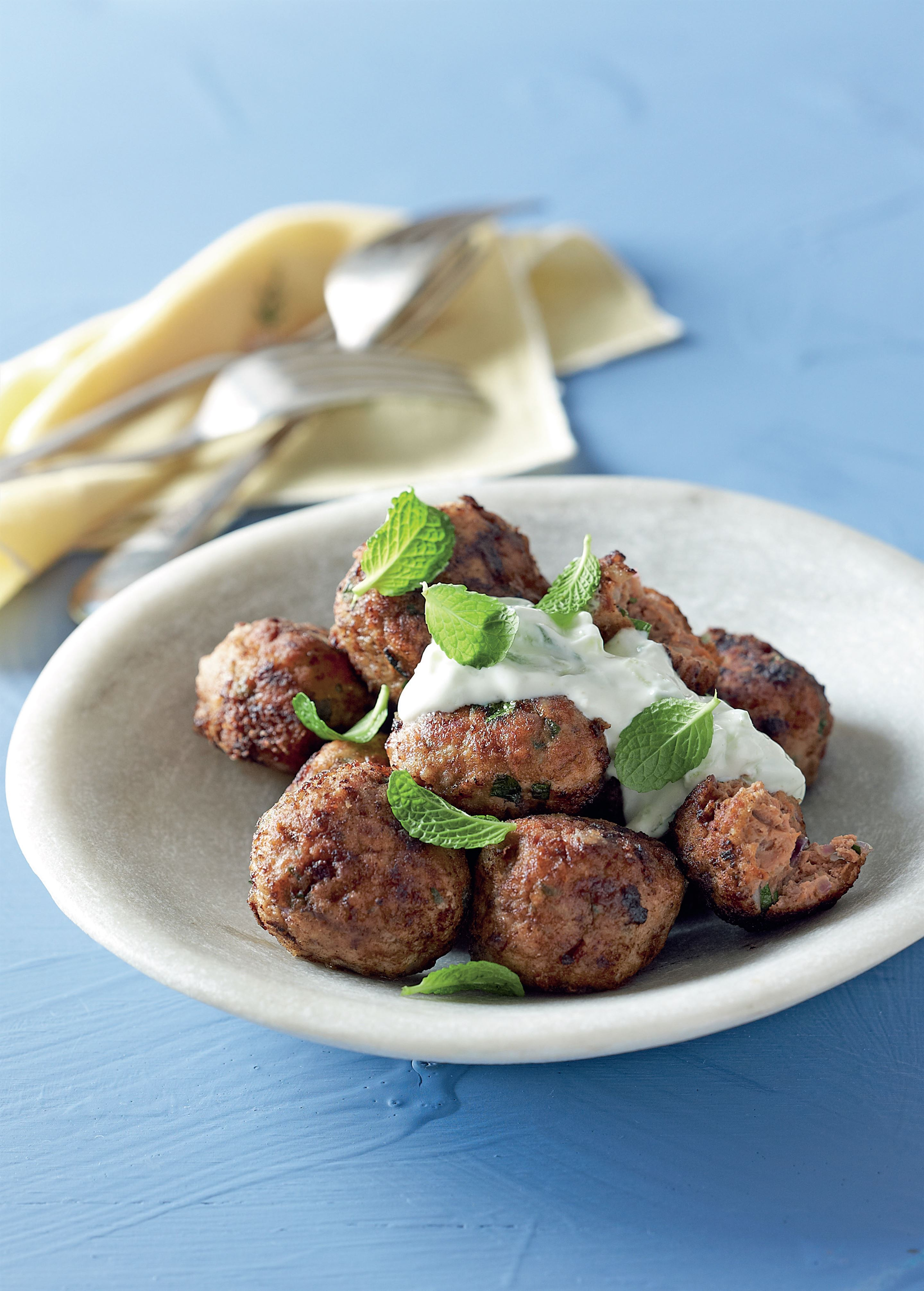 Lamb kofta with tzatziki