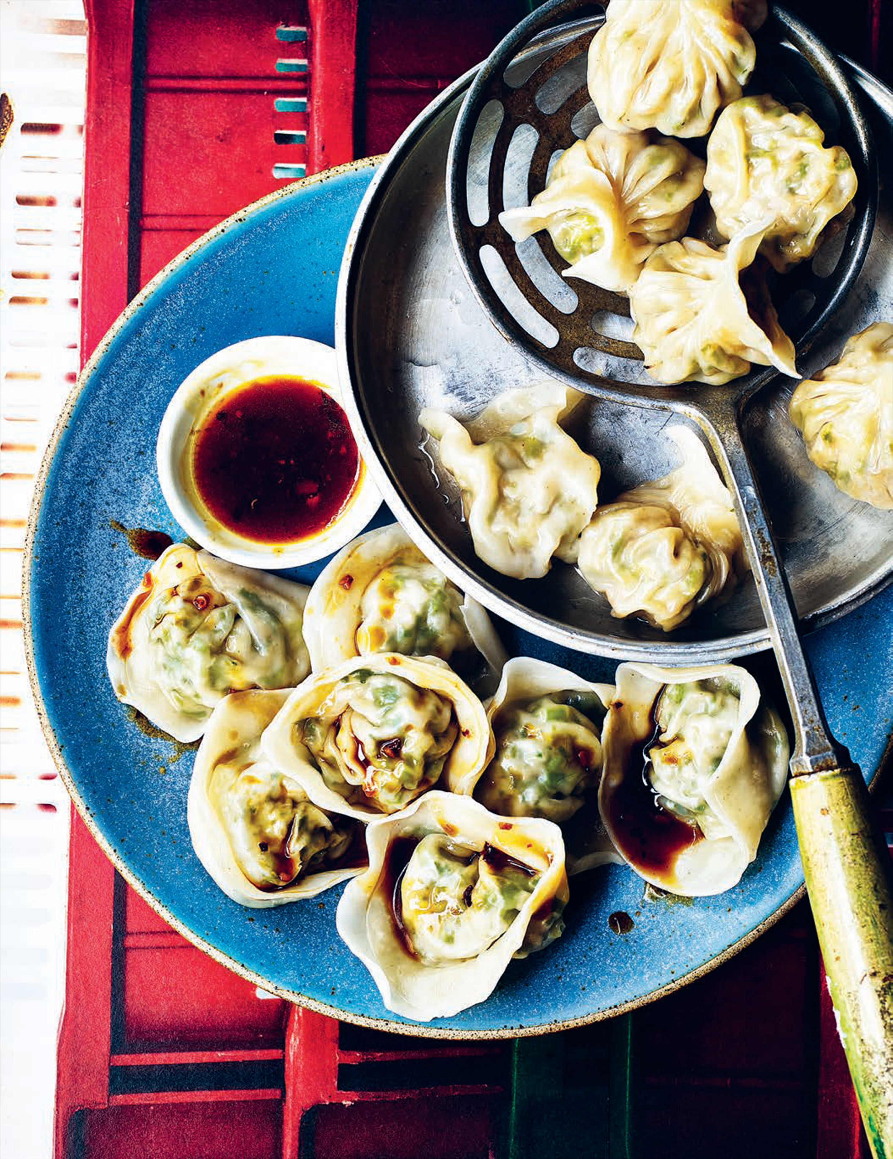 Pak choi & kale dumpling: the fat cat fold