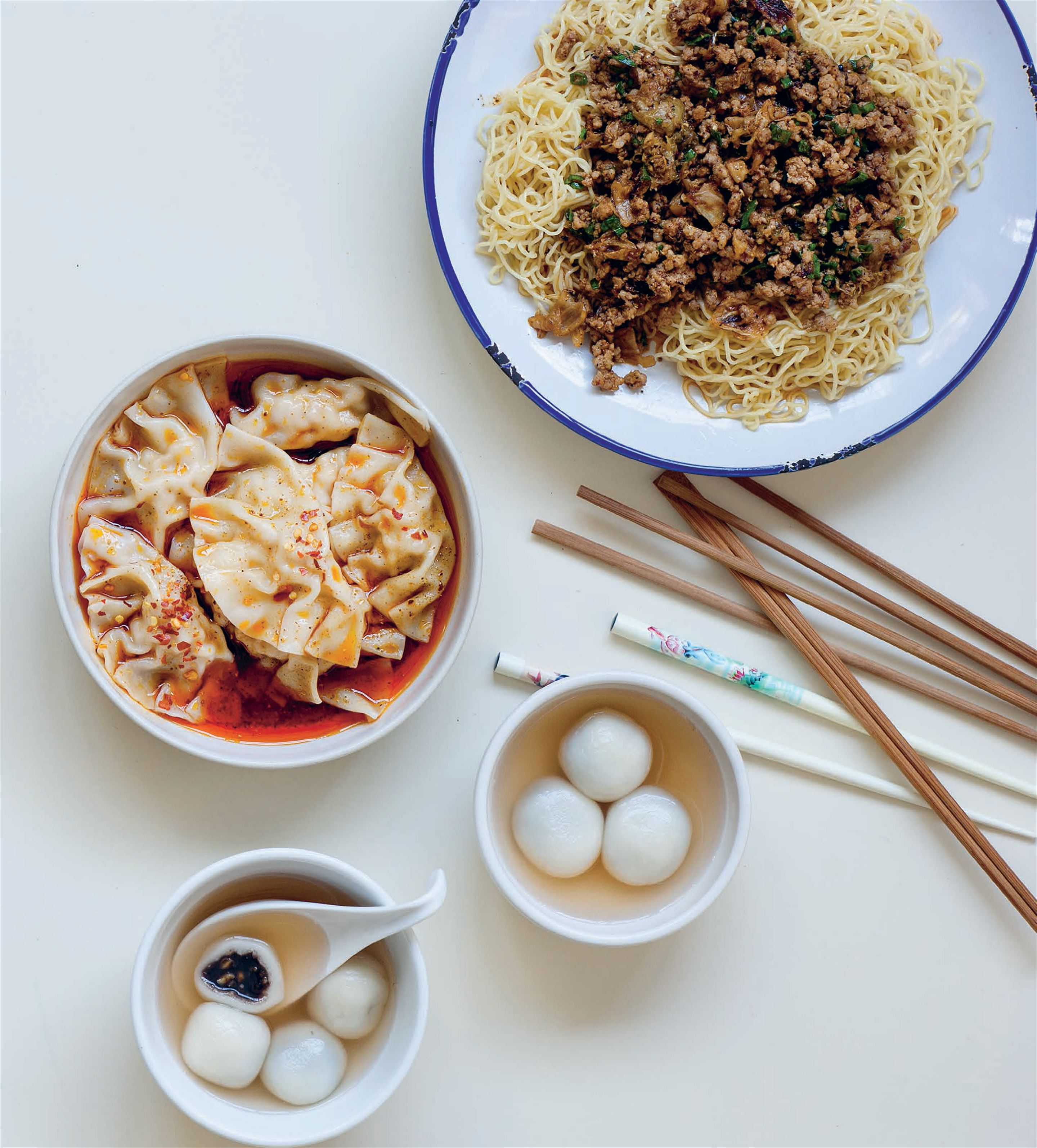 Sichuan dumplings in chilli