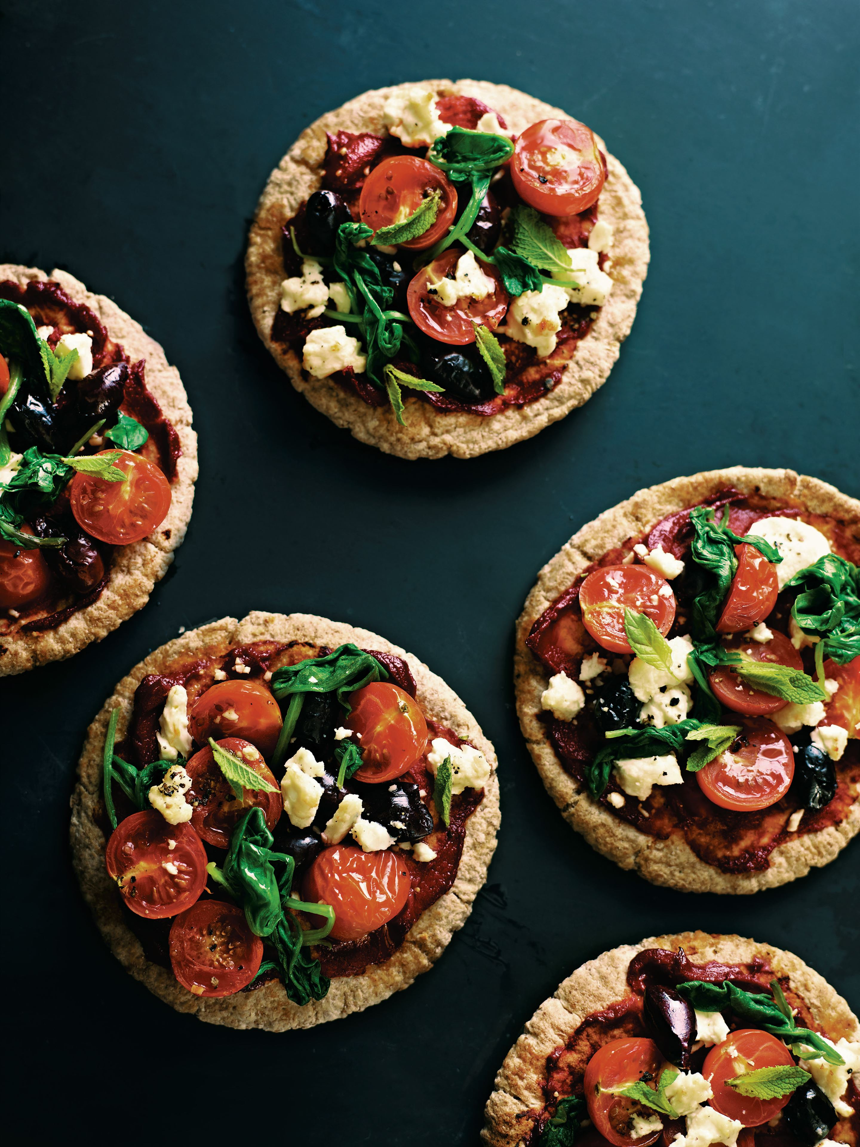 Greek pitta pizza