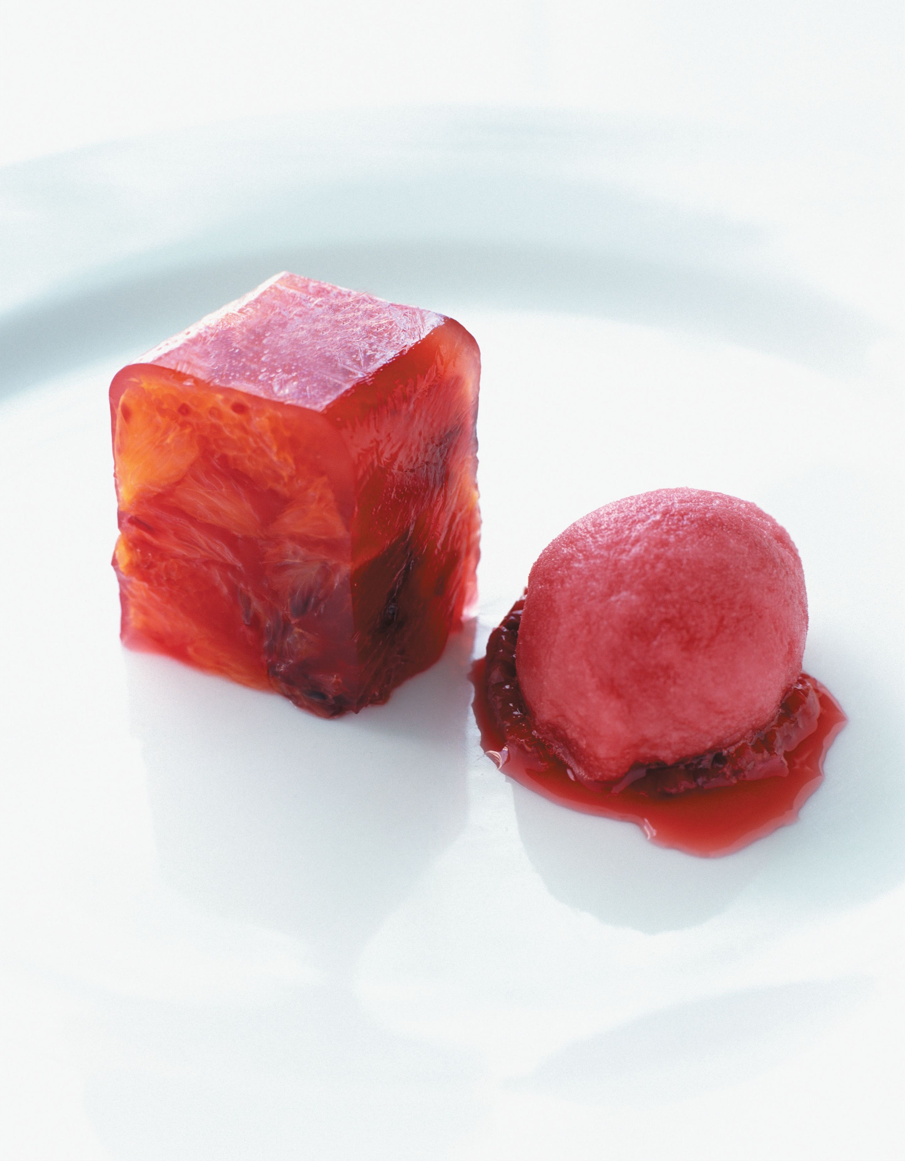 Terrine and sorbet of blood orange