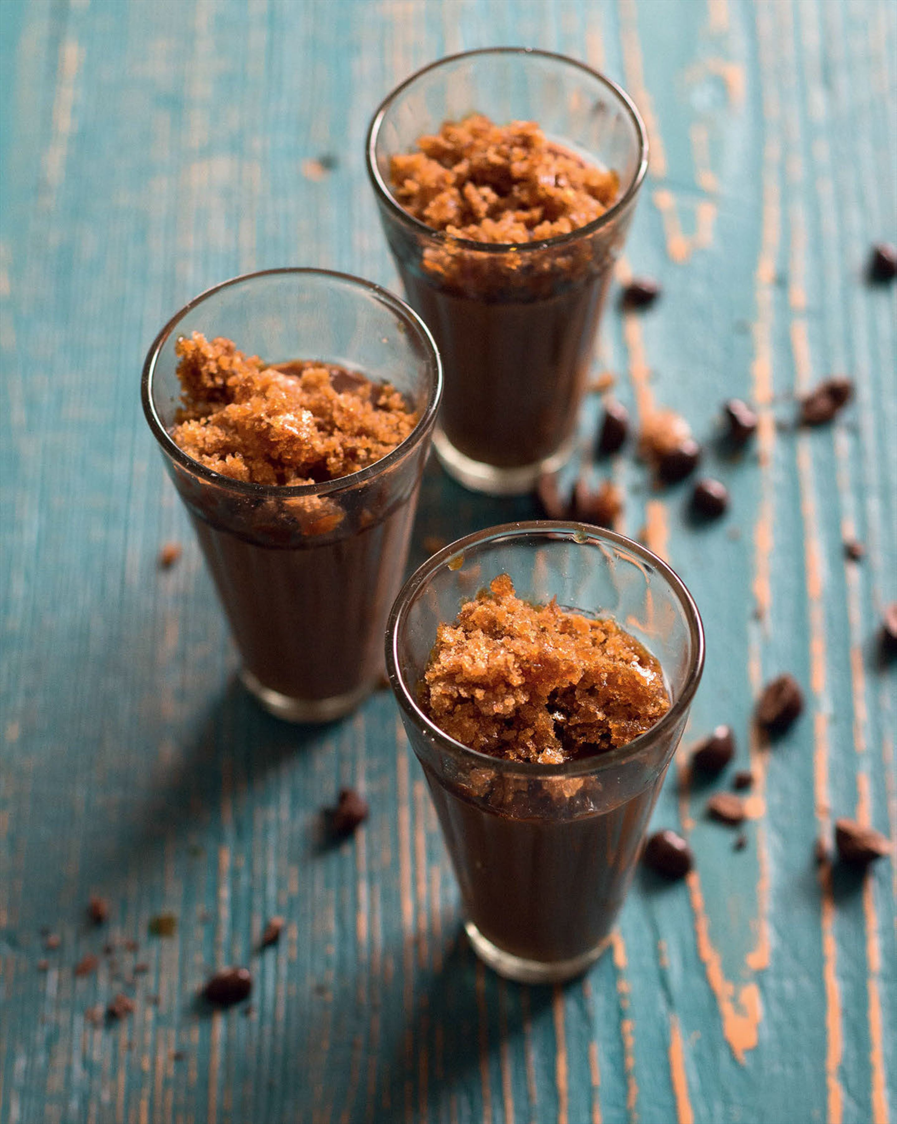 Chocolate muhallabeya with Turkish coffee granita