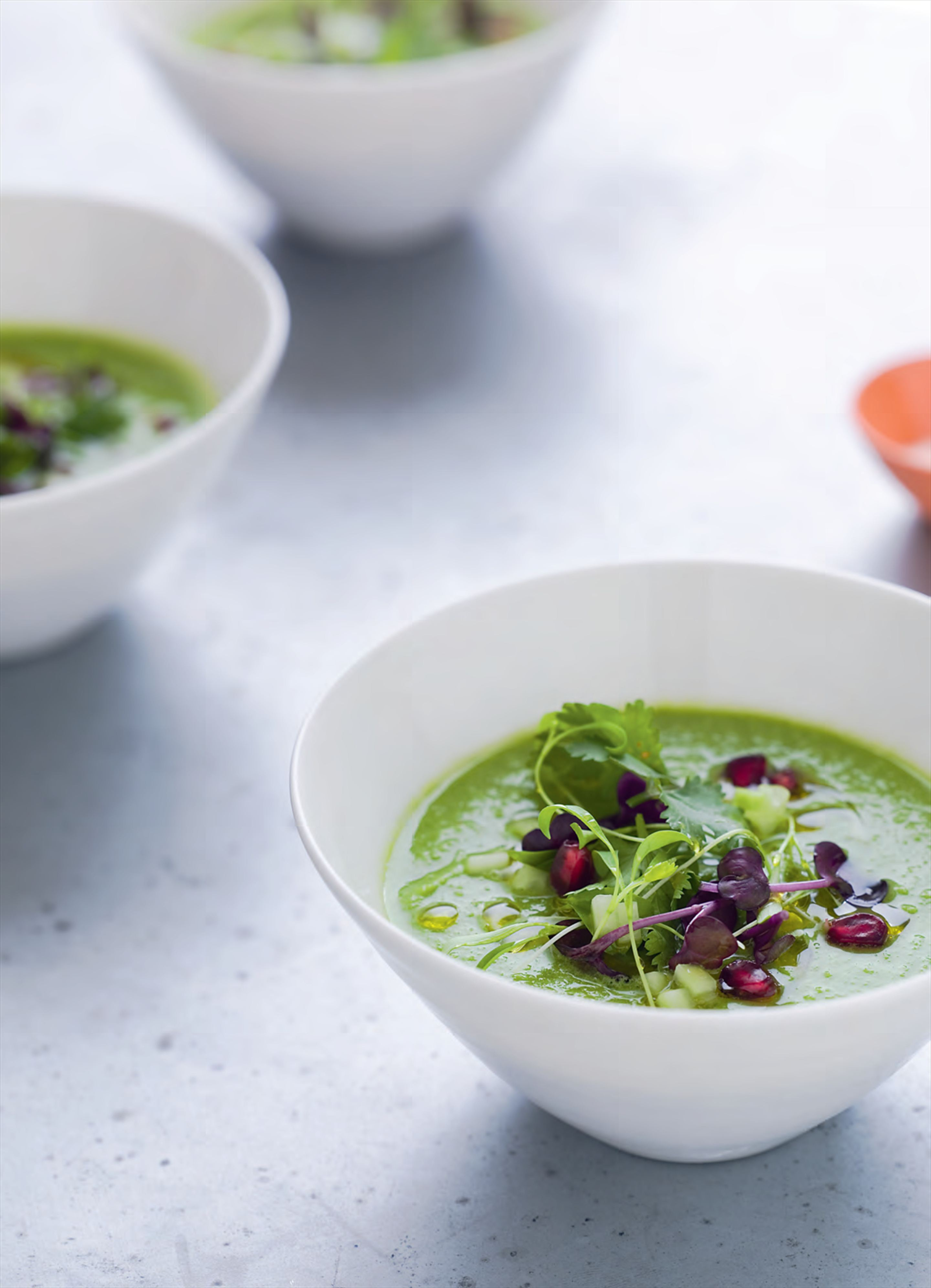 Spicy green gazpacho