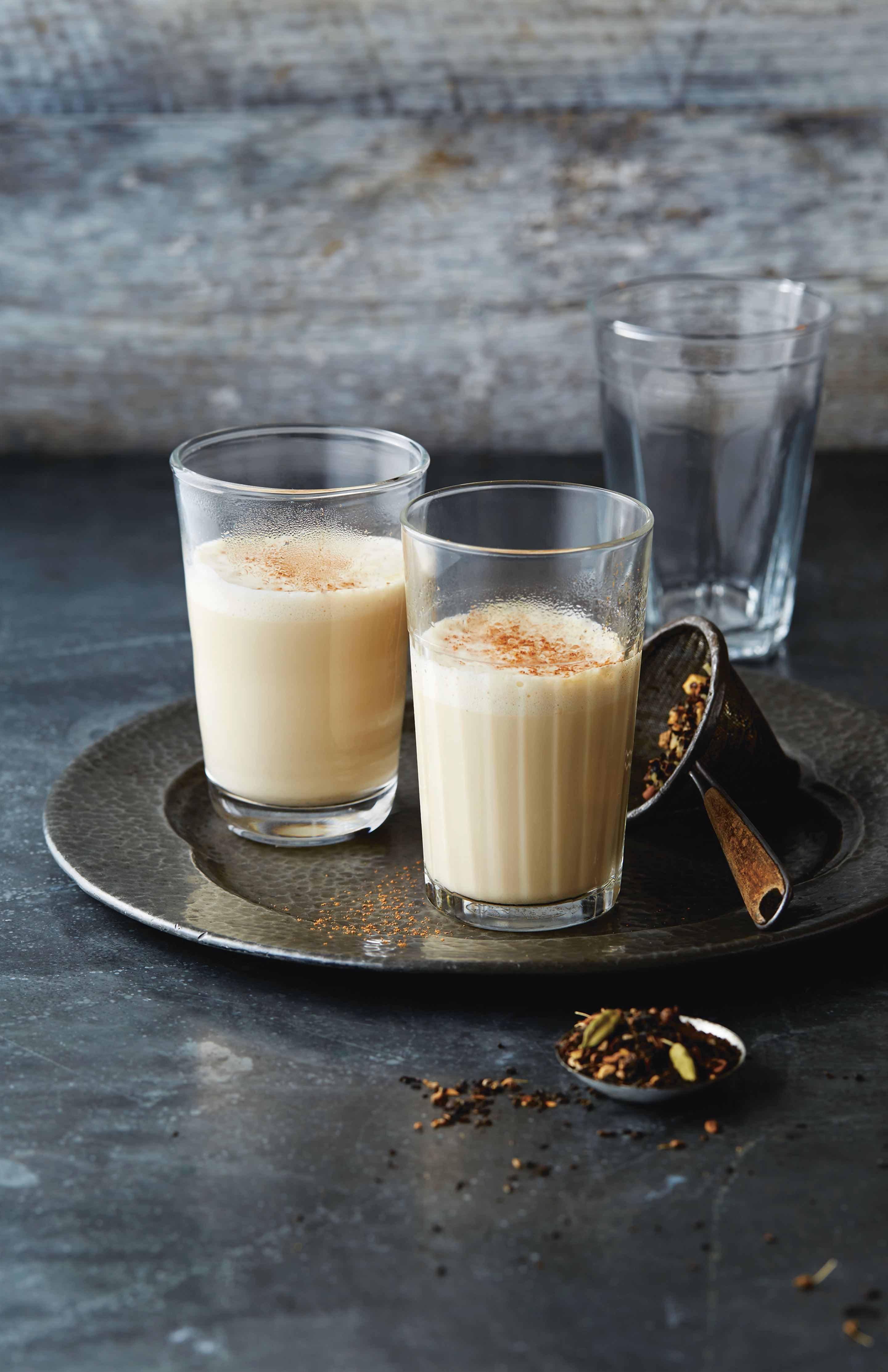 Masala chai tea latte