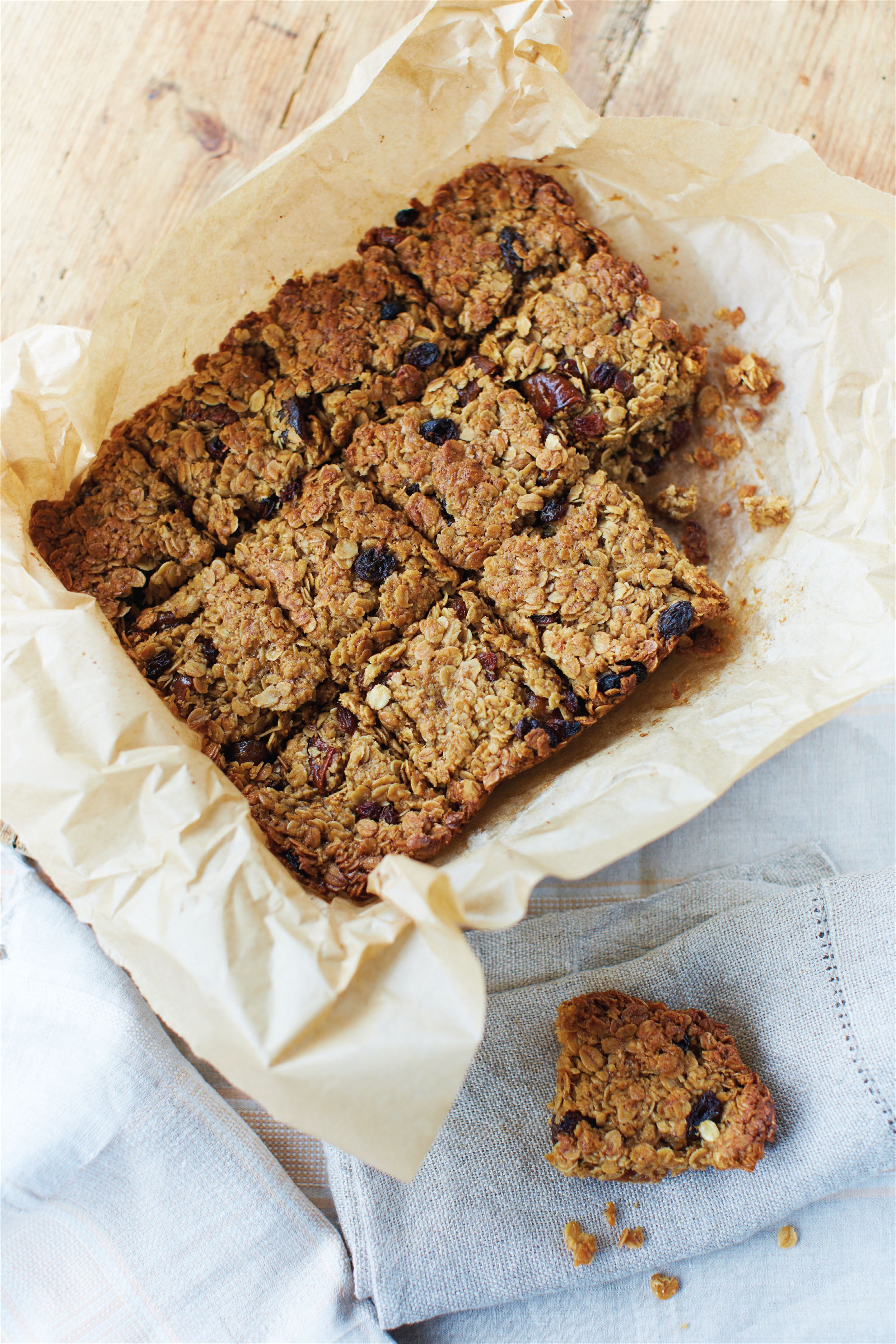 Orange, fig and sultana flapjacks