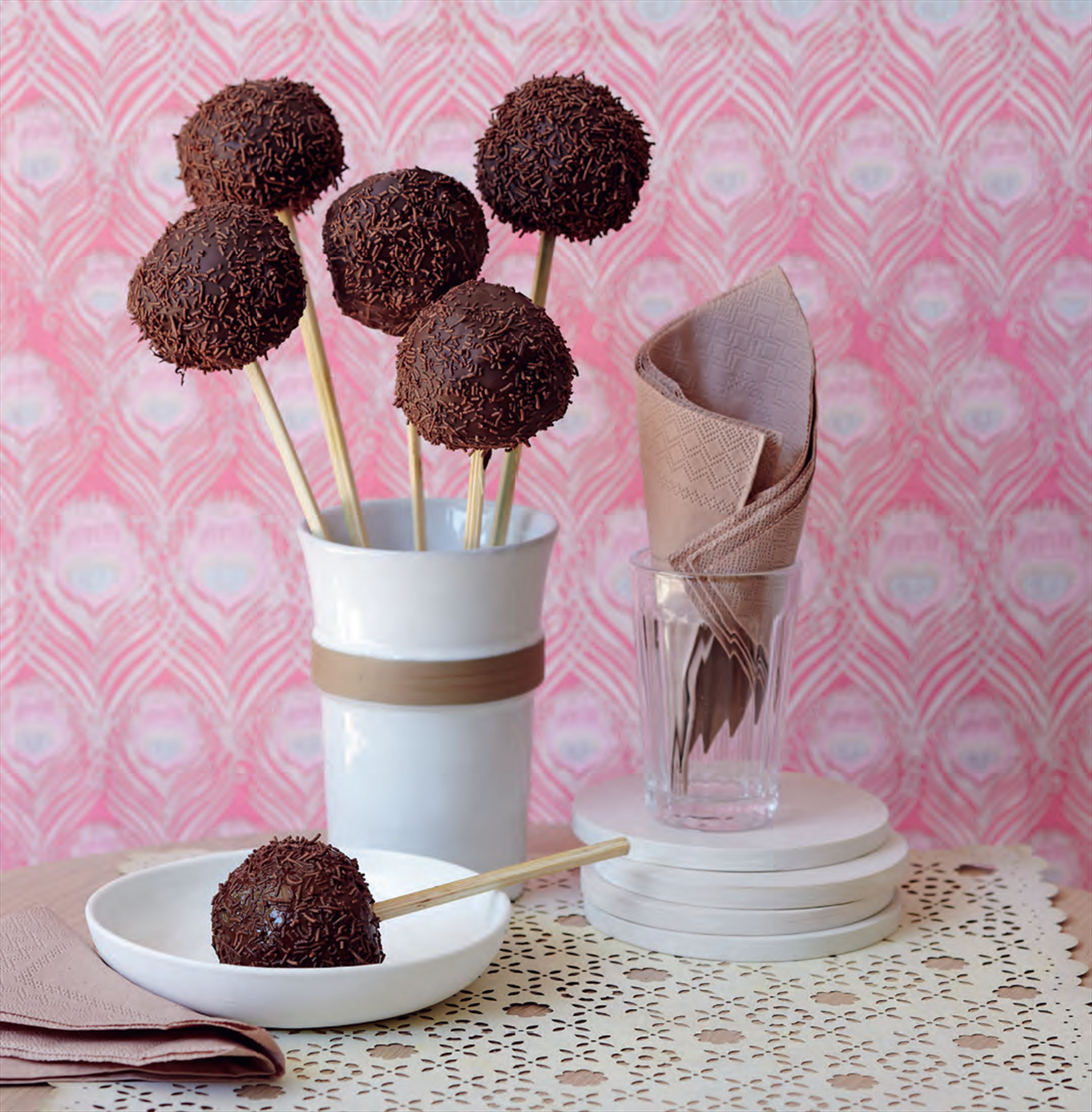 Walnut brownie pops