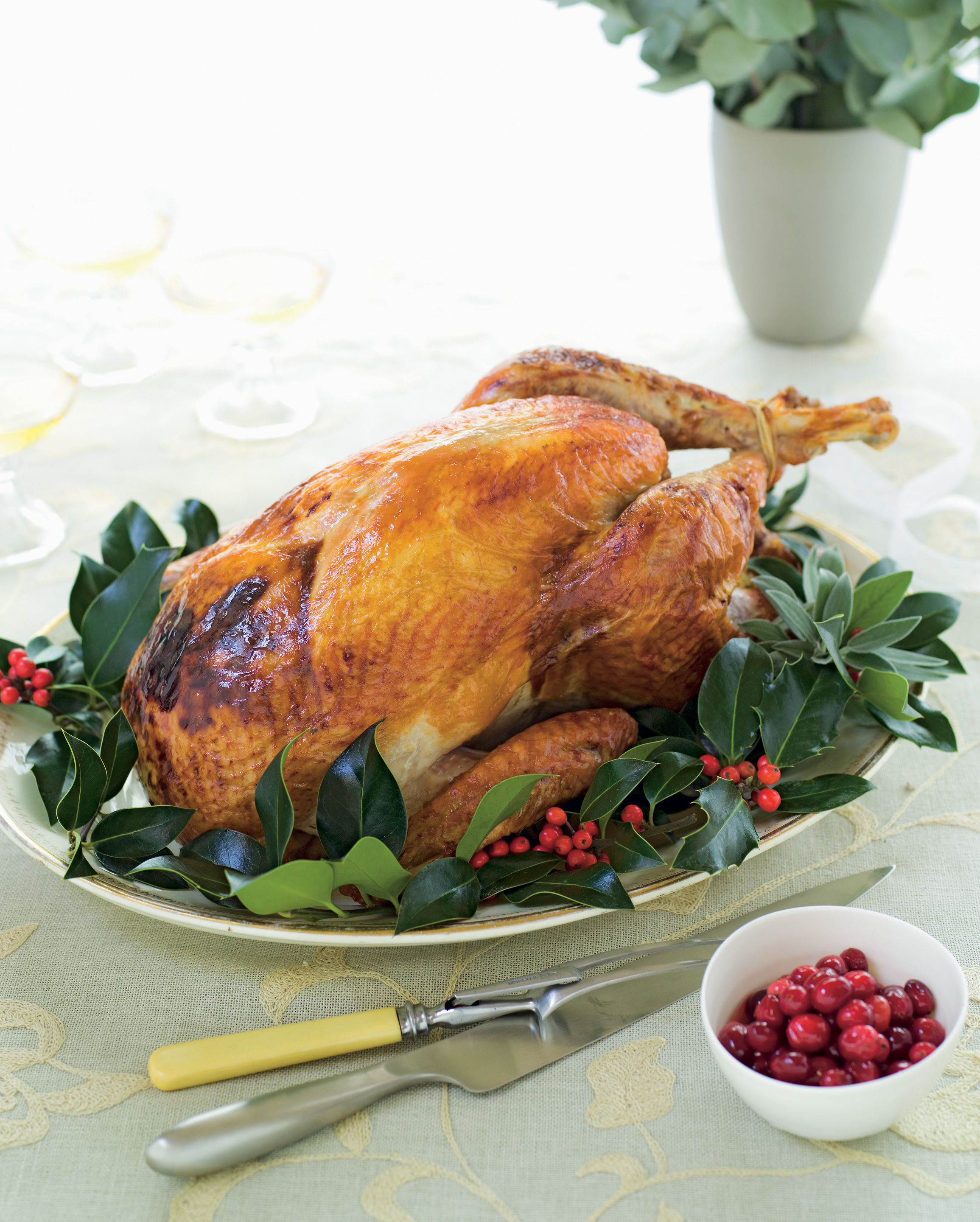Turkey with Orange, Herb and Nut Stuffing