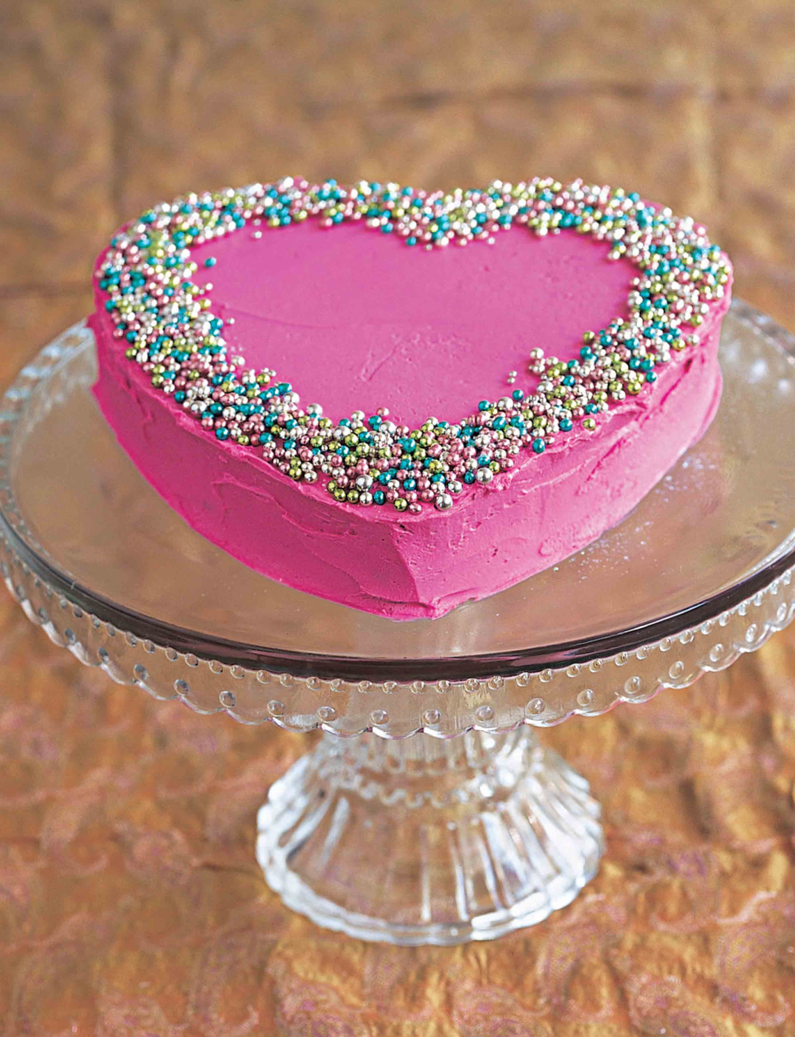 Pink iced heart