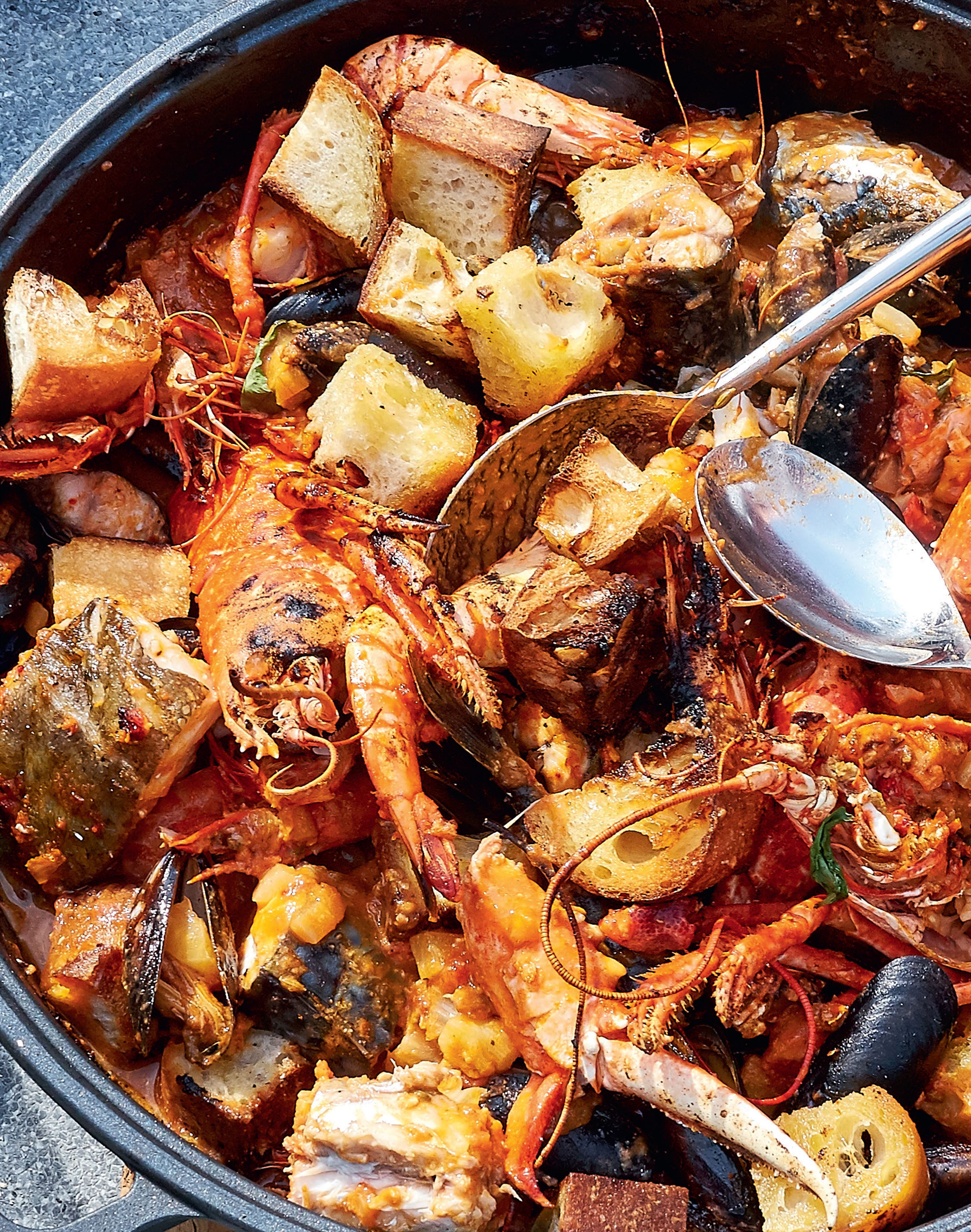 Shellfish cassoulet