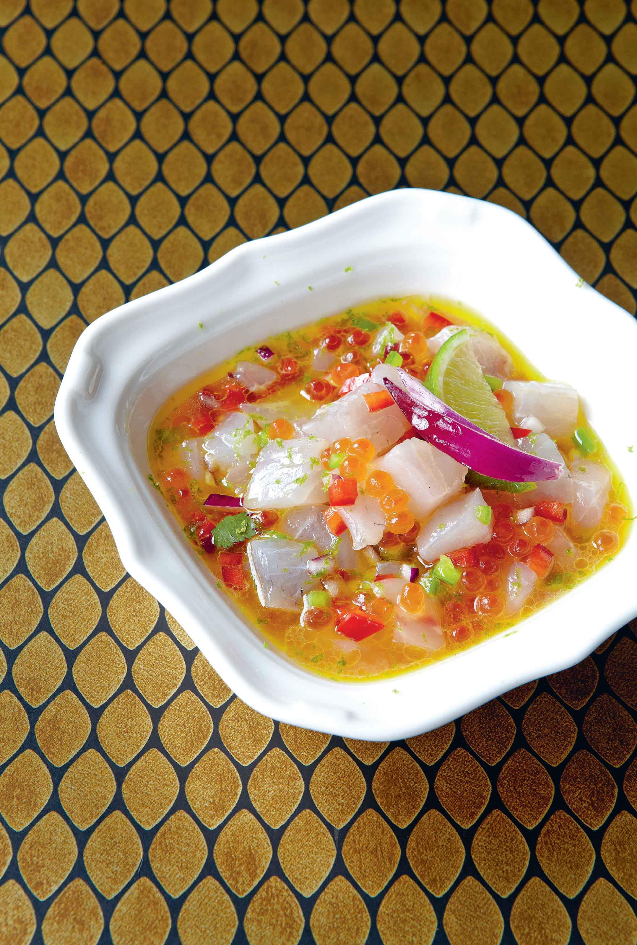 Sea bass ceviche