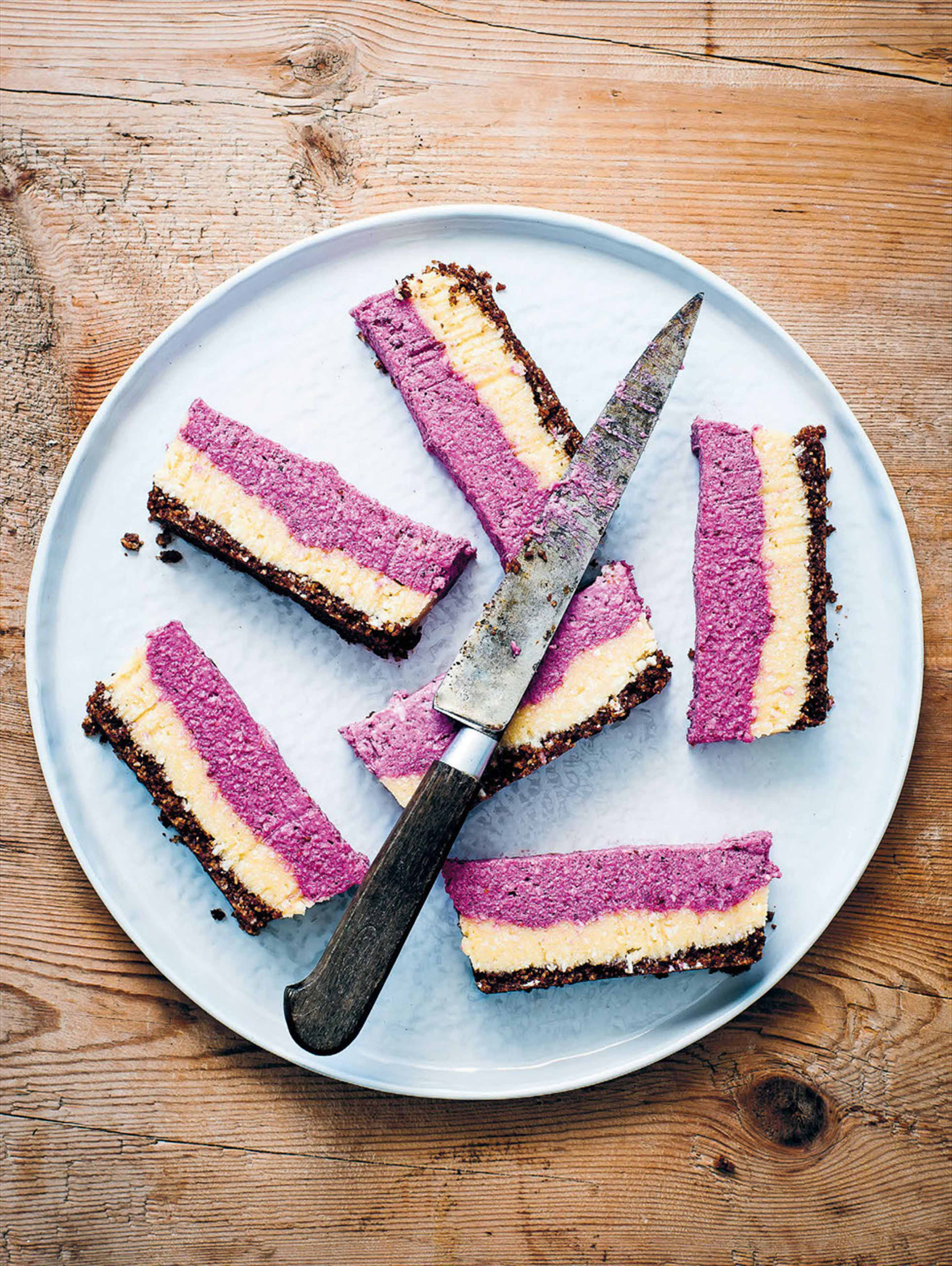 Blackberry & ginger cheesecake