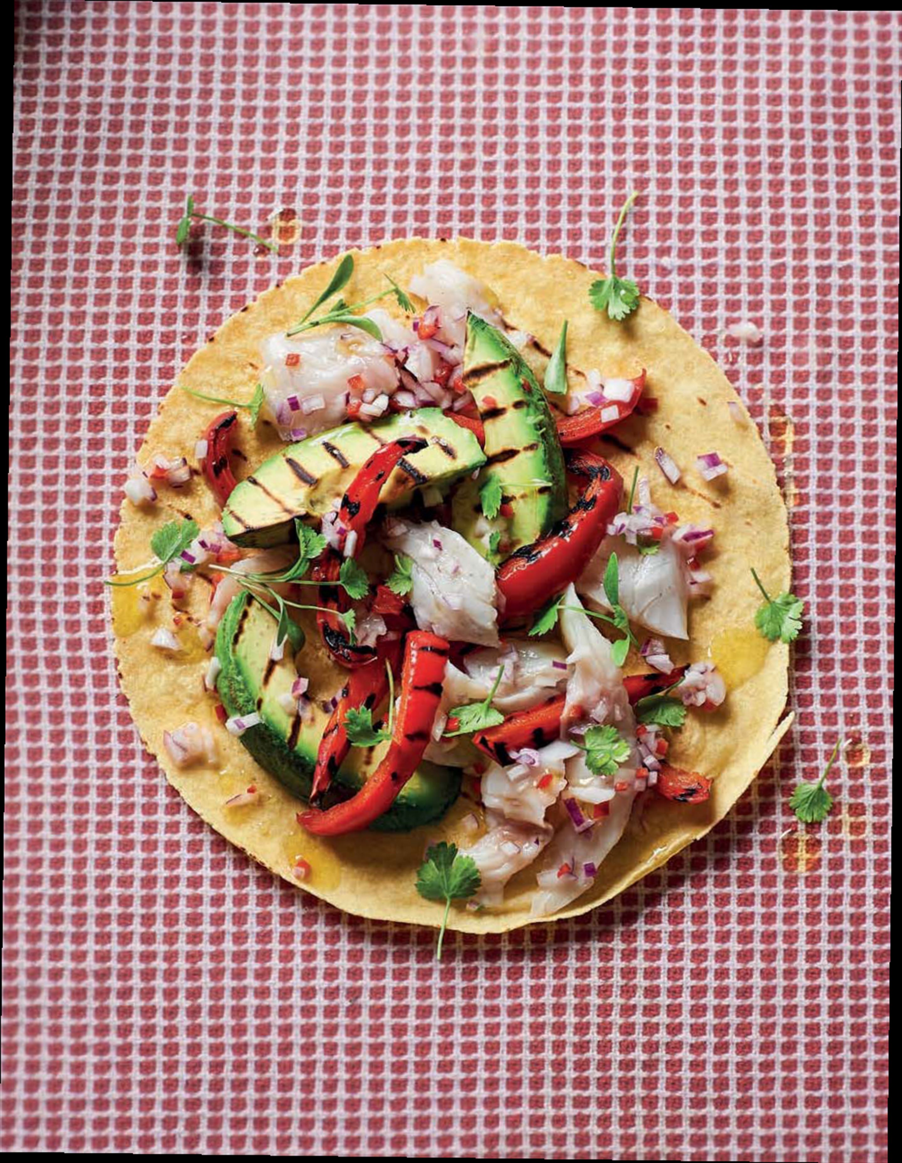 Avocado & sea bass ceviche