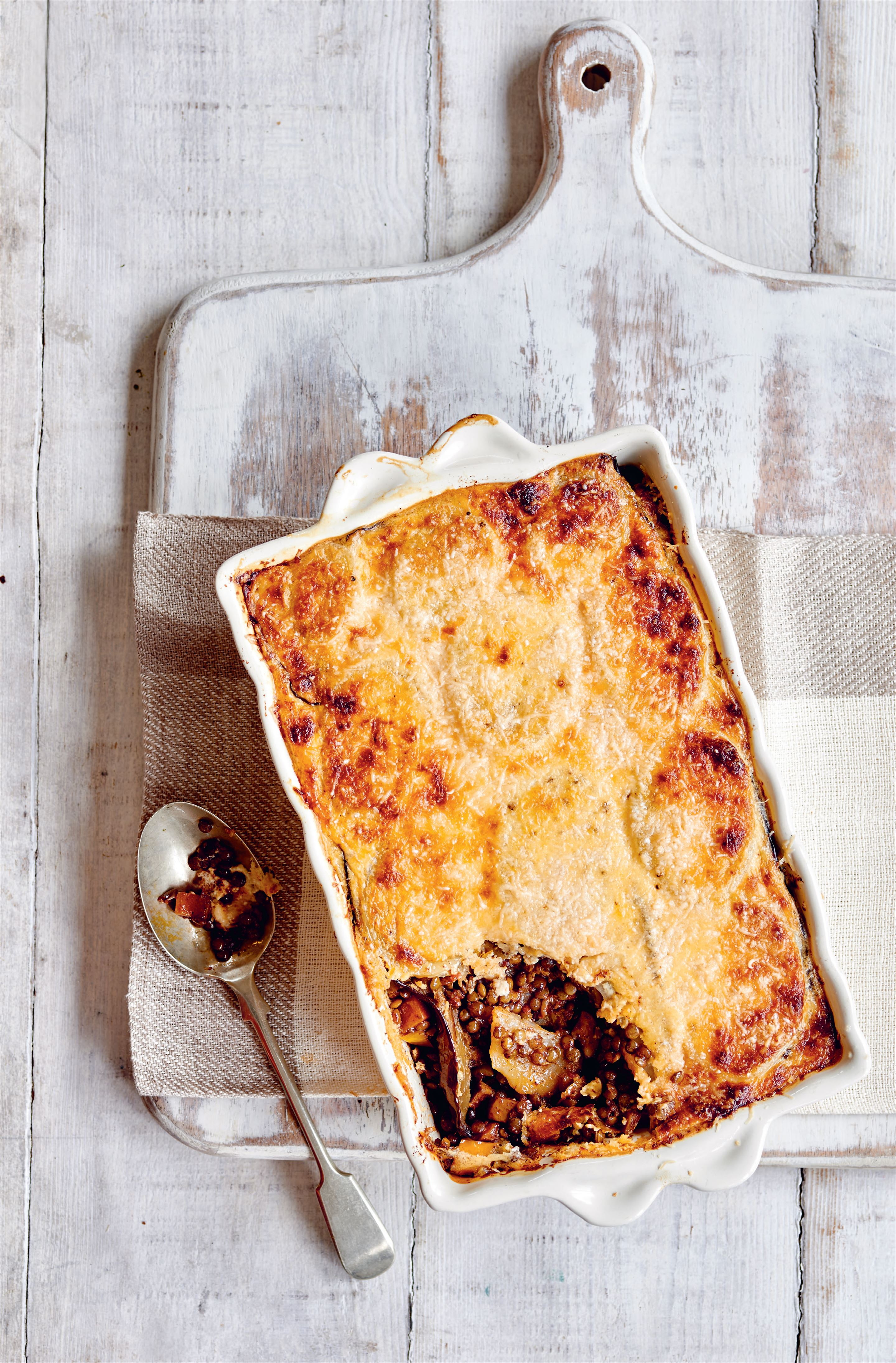 Lentil and vegetable moussaka