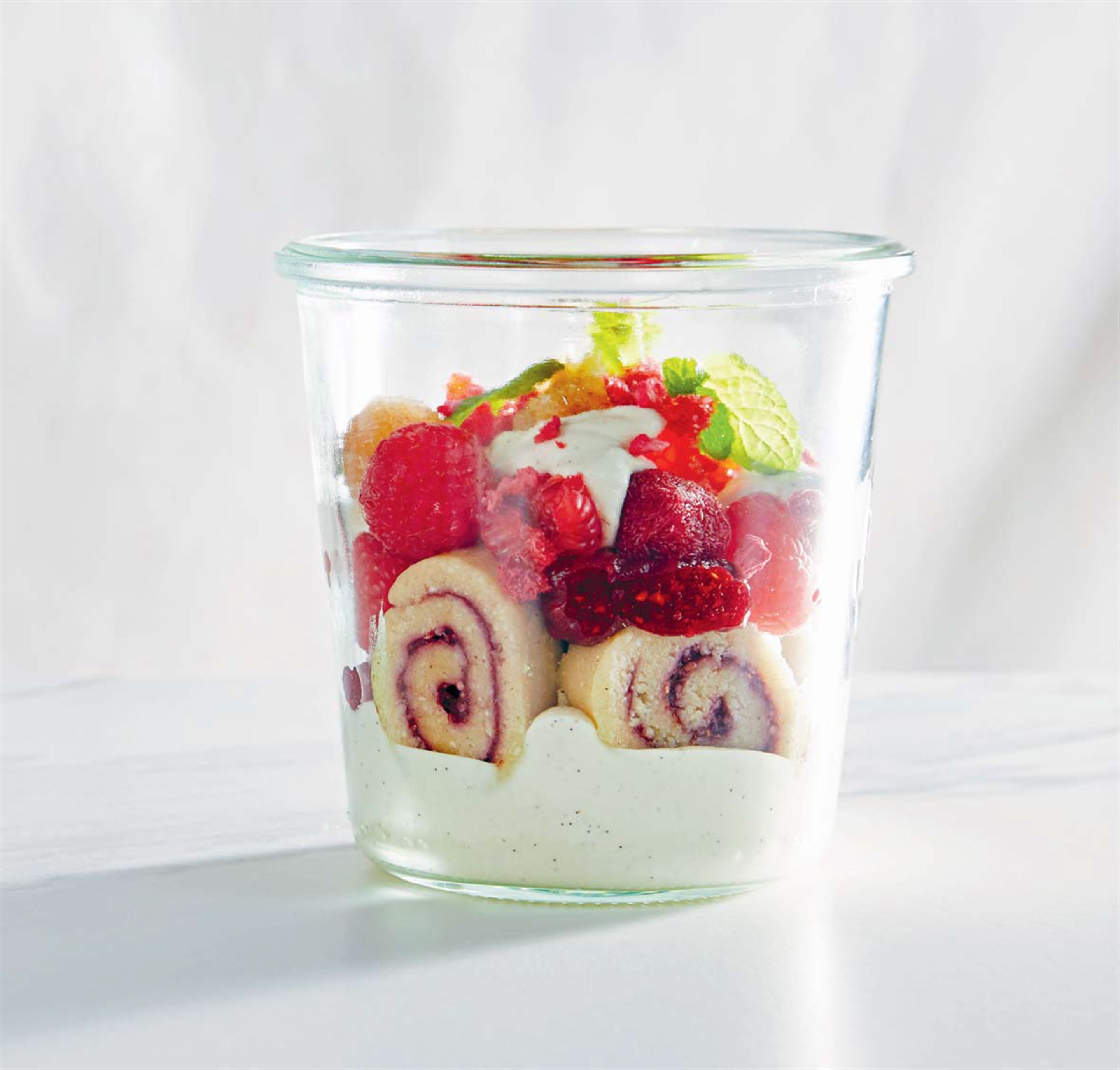 Raspberry ginger trifle