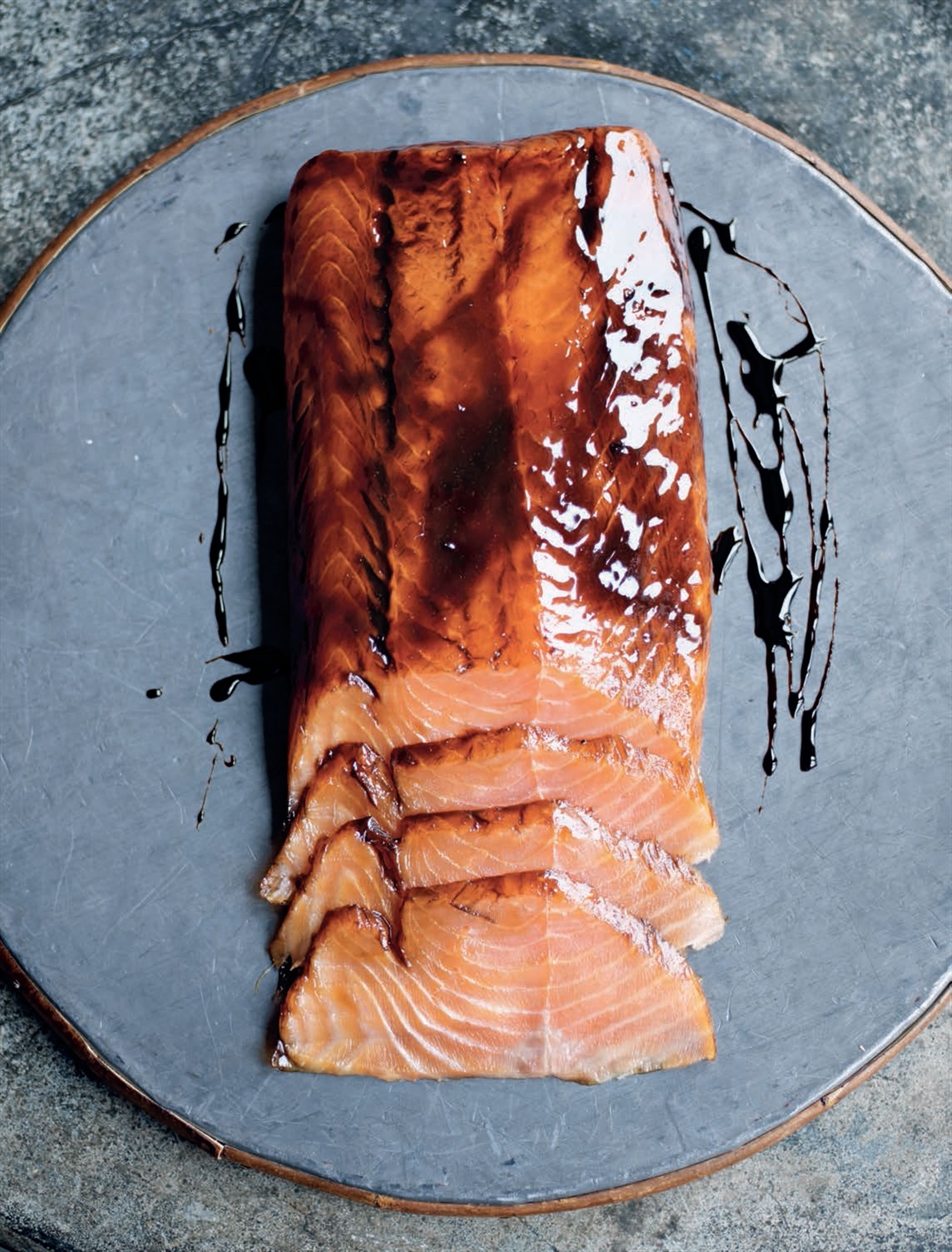 Treacle-marinated salmon